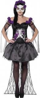 Mexicaans paars skeletten Halloween kostuum voor vrouwen