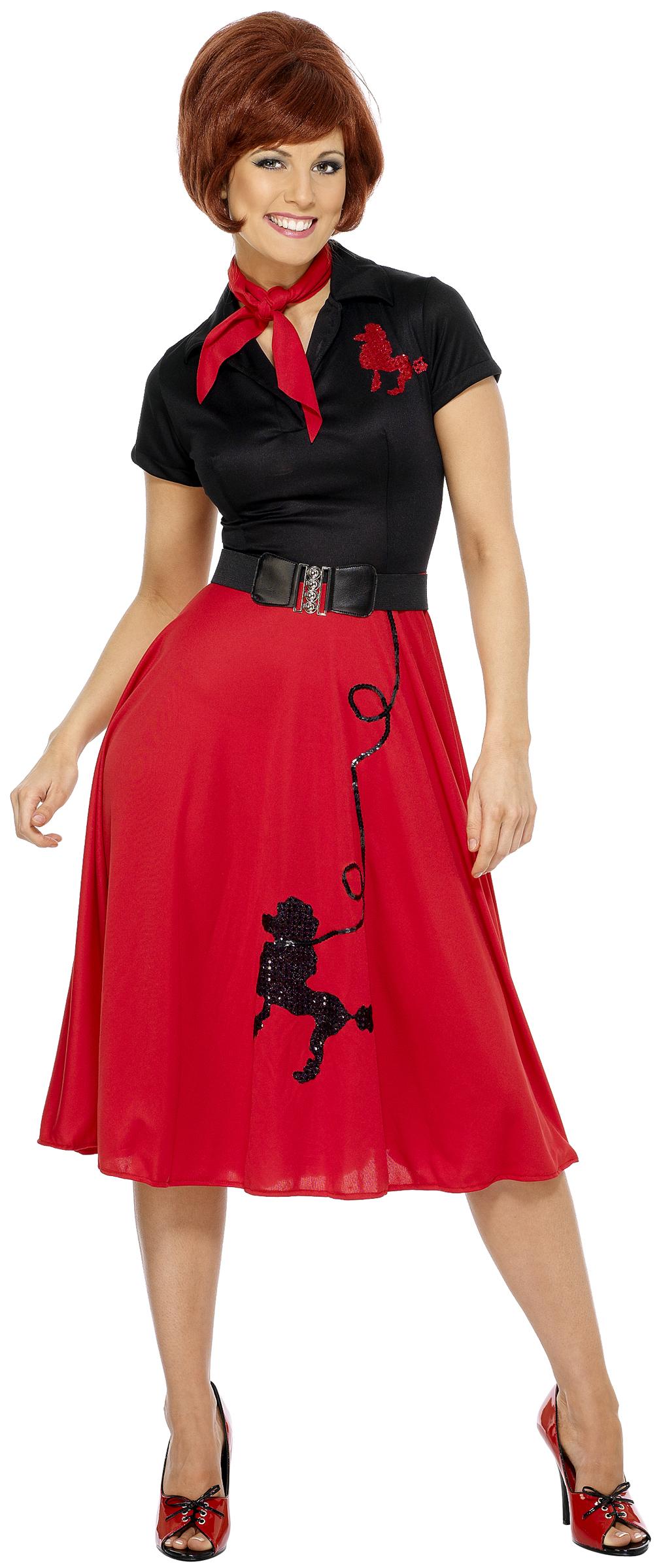 Rocku0026#39;nu0026#39;roll jaren 50 outfit voor vrouwen  Volwassenen Kostuumsen goedkope carnavalskleding ...