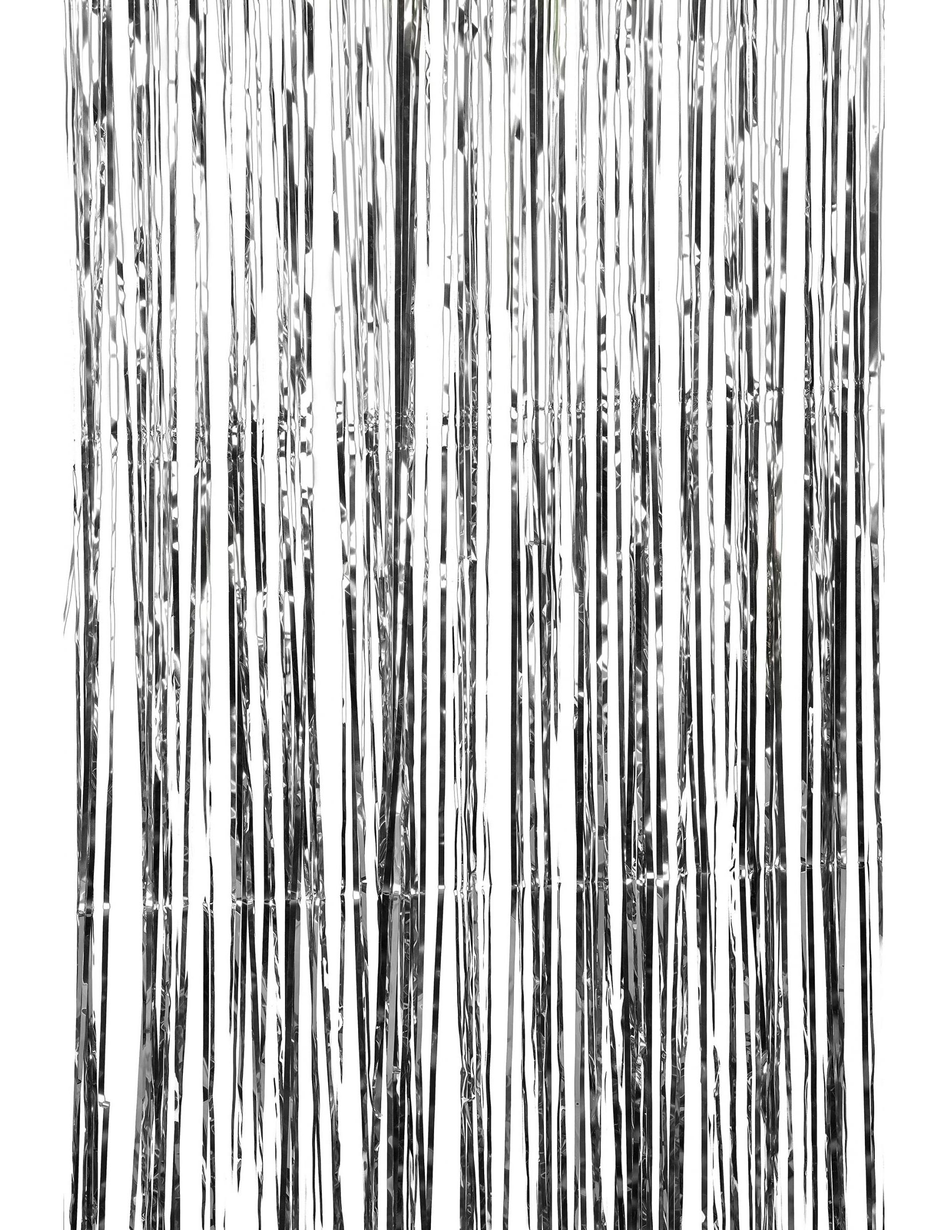 Glinsterend zilverkleurig gordijn voor Kerst