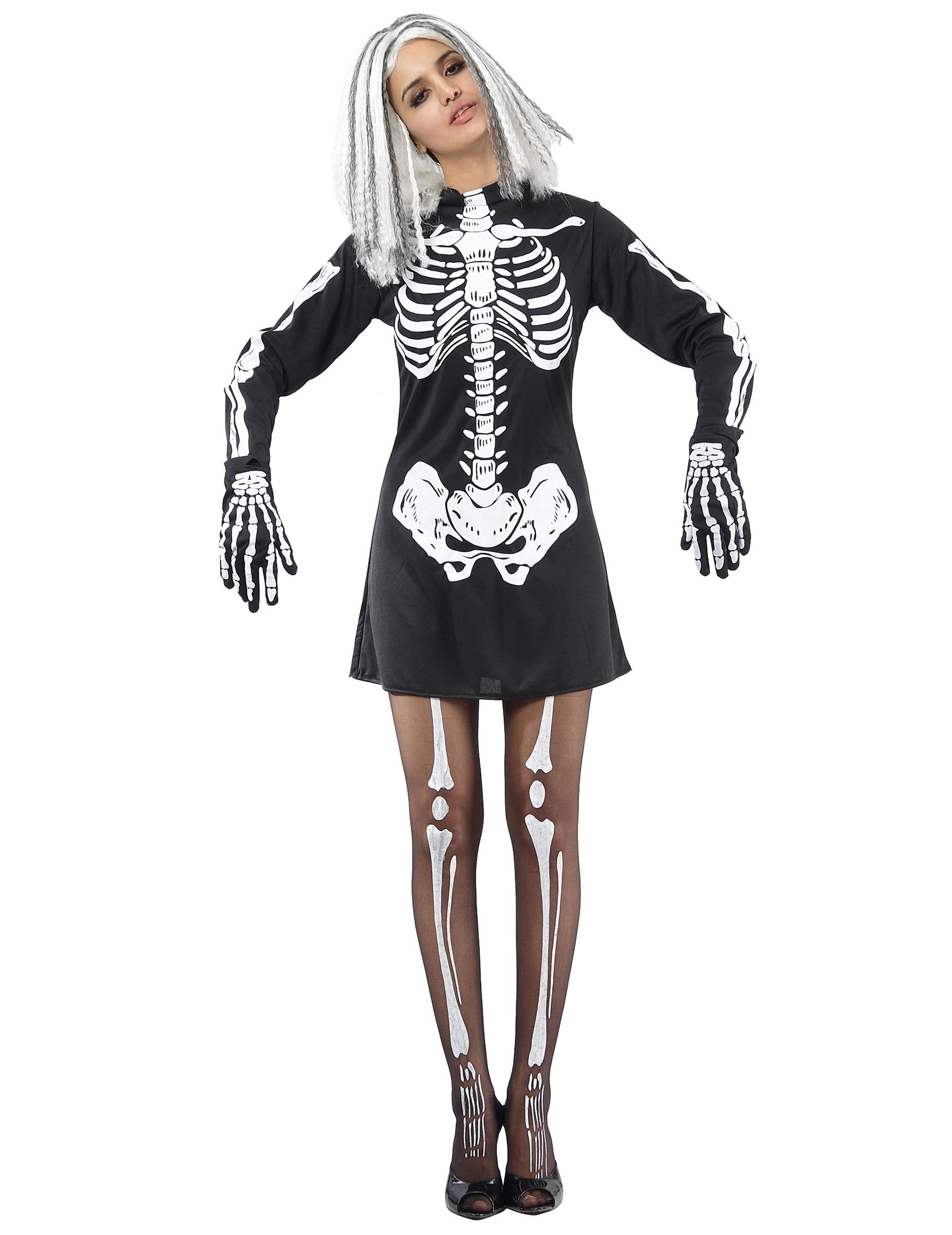 Halloween Kleding Dames.Halloween Skeletten Kostuum Voor Dames
