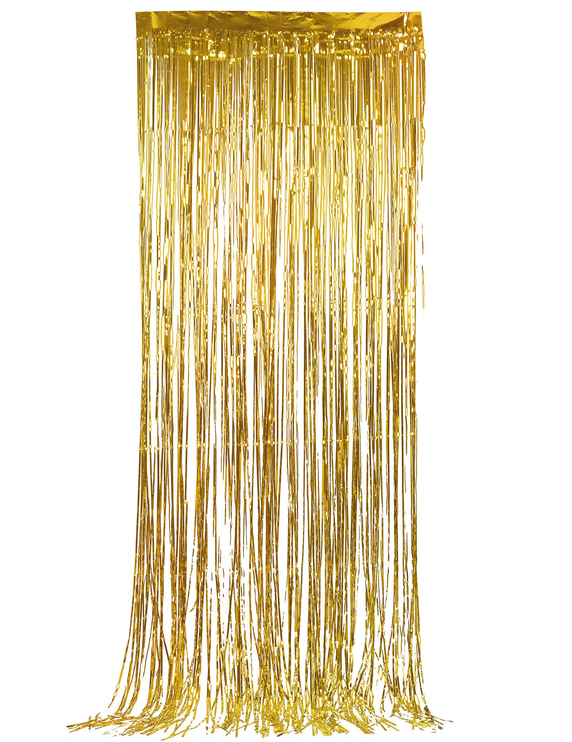 Gouden glittergordijn: Decoratie,en goedkope carnavalskleding - Vegaoo