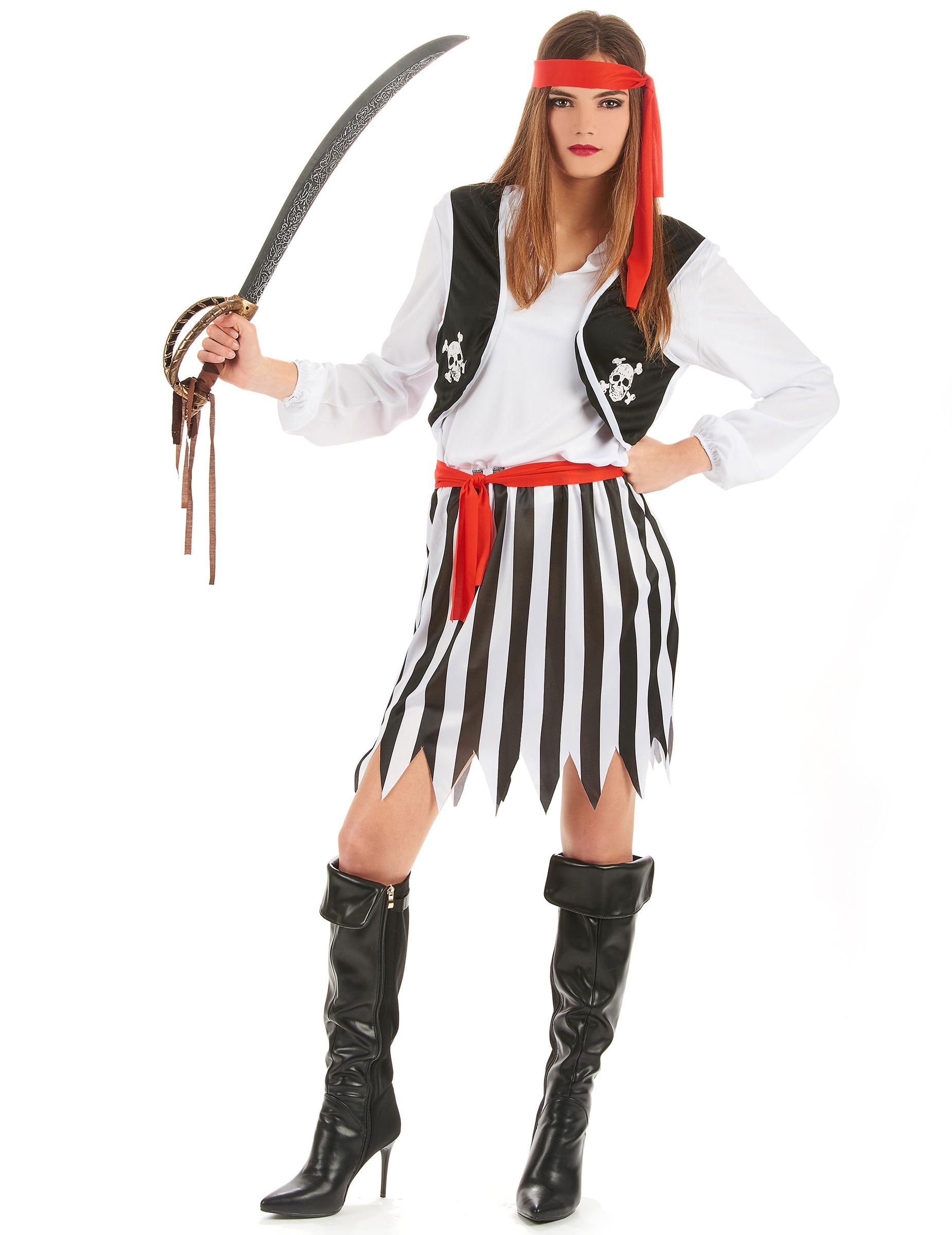 Carnavalskleding Dames Goedkoop.Gestreept Piraten Pak Voor Dames Volwassenen Kostuums En Goedkope