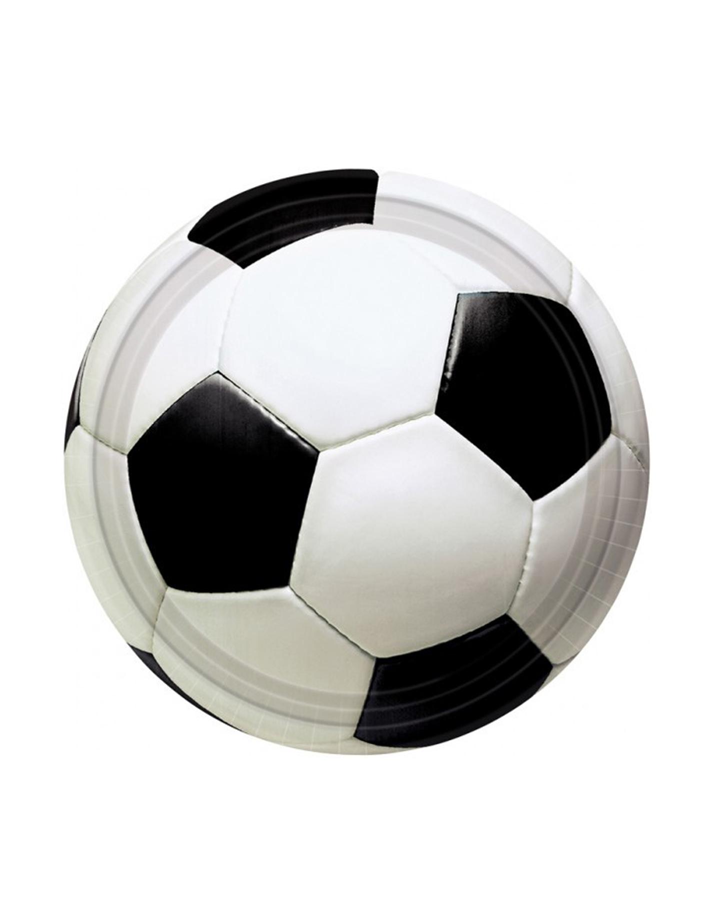 Set van 8 voetbal ballen bordjes online kopen