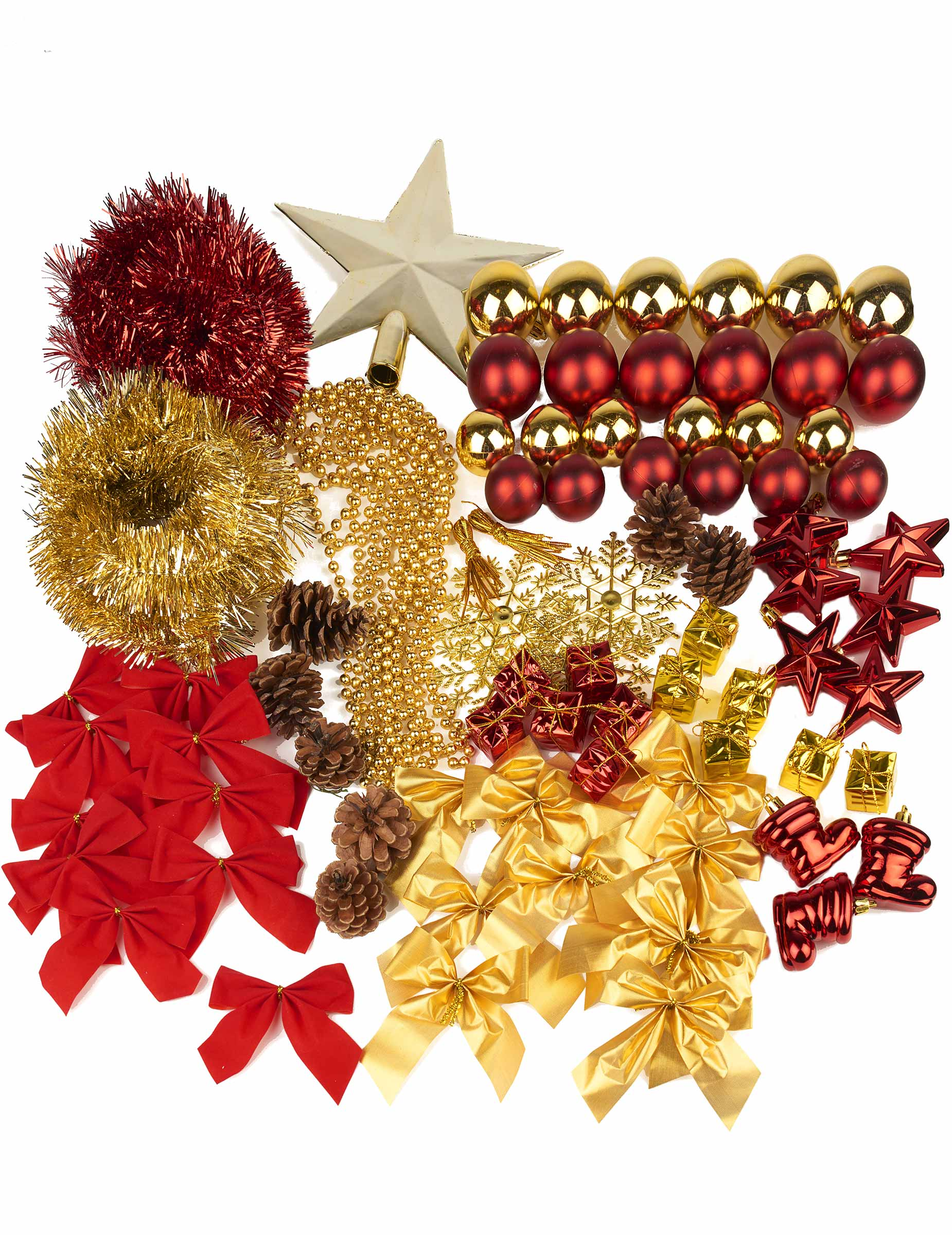 Kerstboom decoratie set decoratie en goedkope for Goedkope decoratie