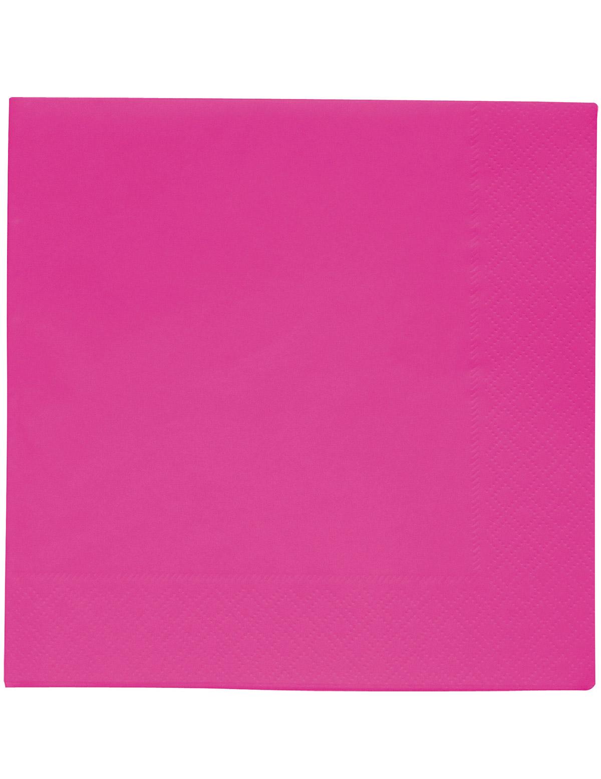20 fuchia roze servetten 33 x 33 cm - Tafel roze kind ...