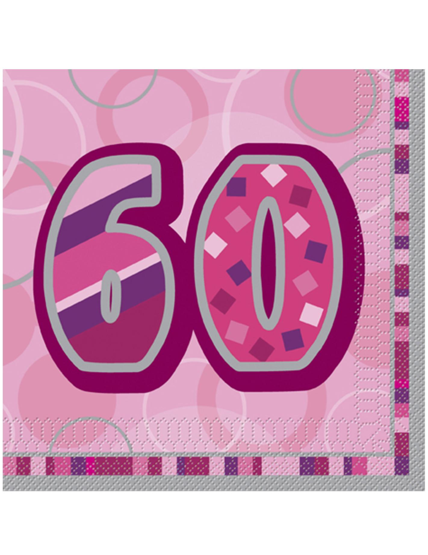 Leuke set van servetten voor 60 ste verjaardag for Decoratie 60 jaar