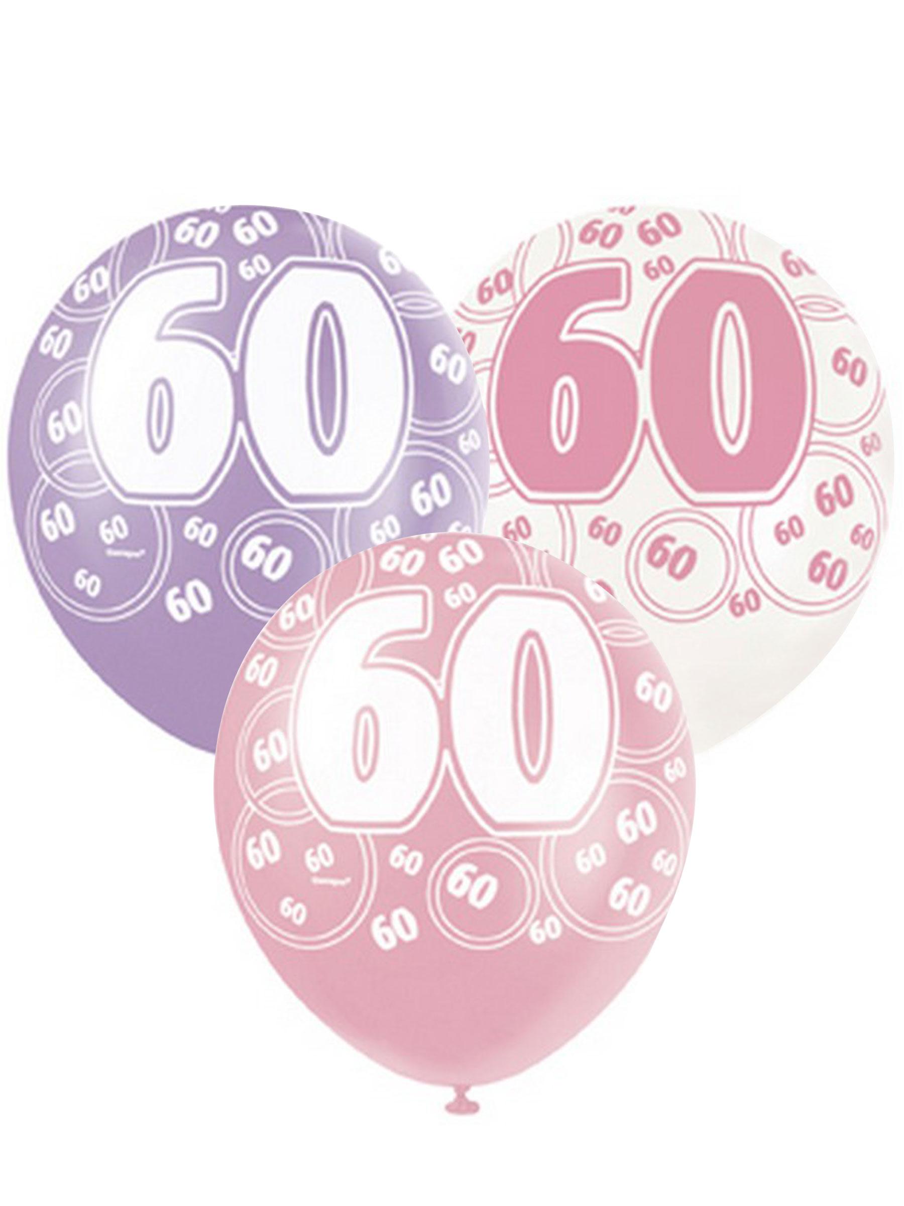 ballonnen 60 jaar Set roze ballonnen 60 jaar: Decoratie,en goedkope carnavalskleding  ballonnen 60 jaar