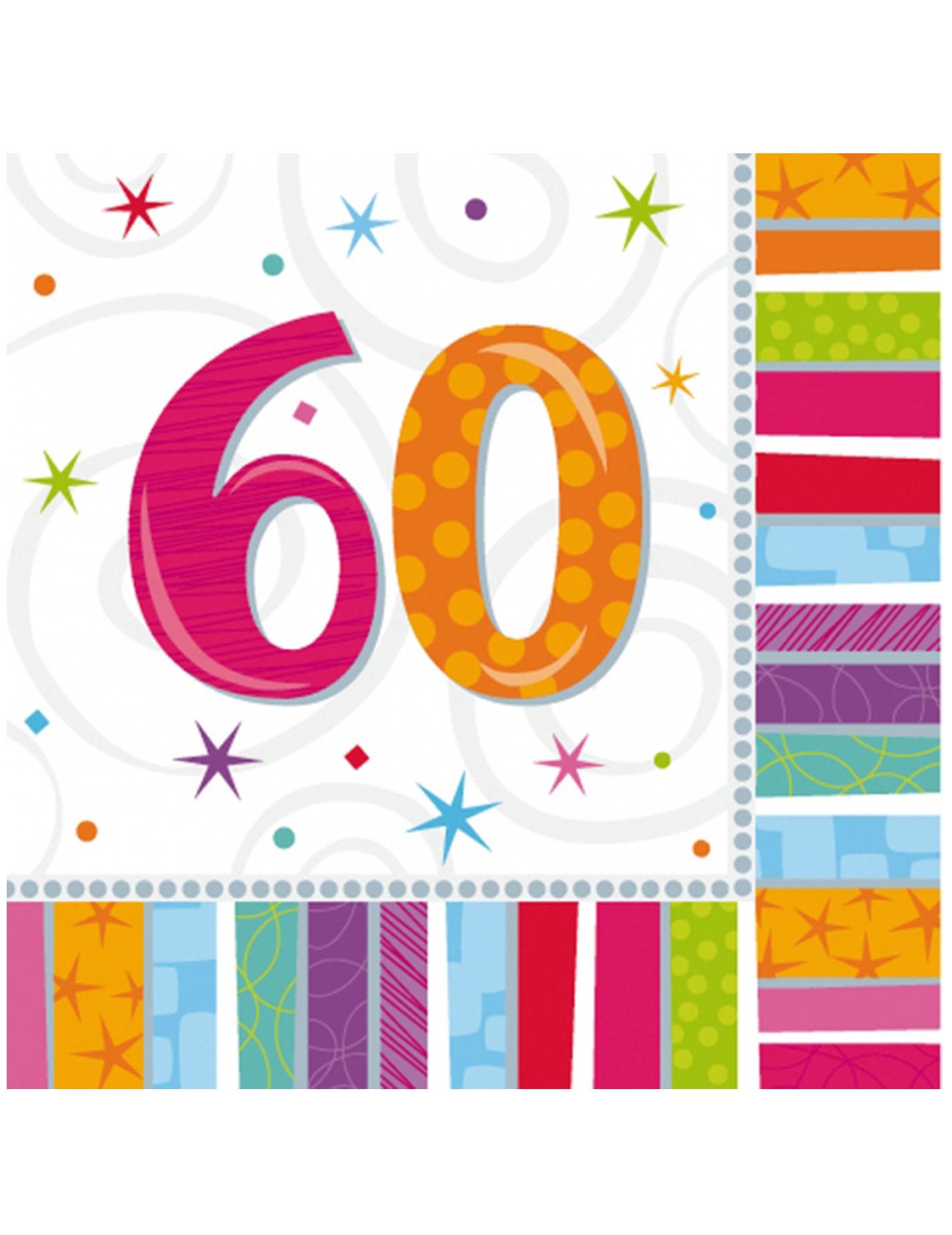 16 papieren servetten 60 jaar decoratie en goedkope for Decoratie 60 jaar