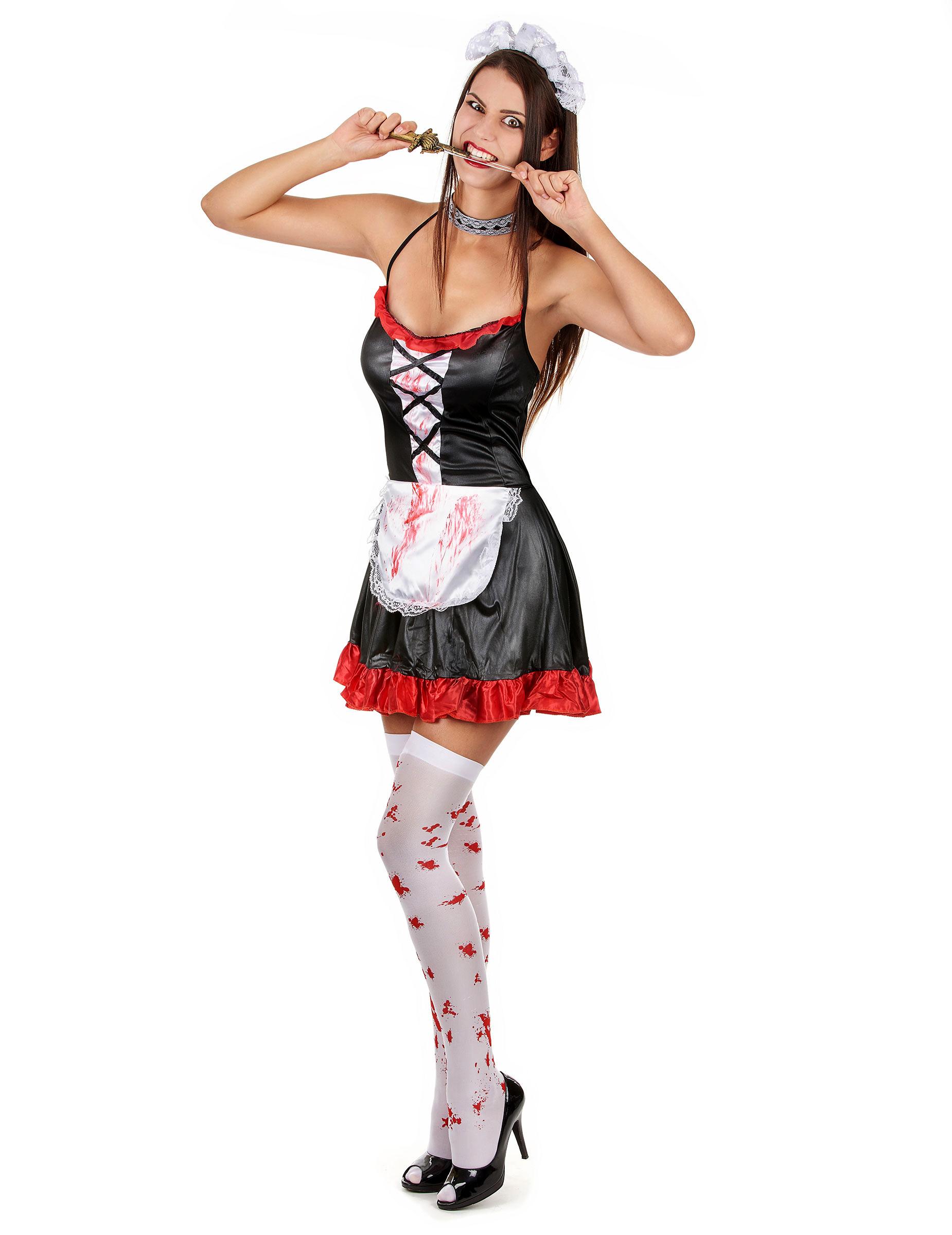 Halloween Kleding Dames.Verkleedkostuum Bebloed Kamermeisje Voor Dames Halloween Kleding