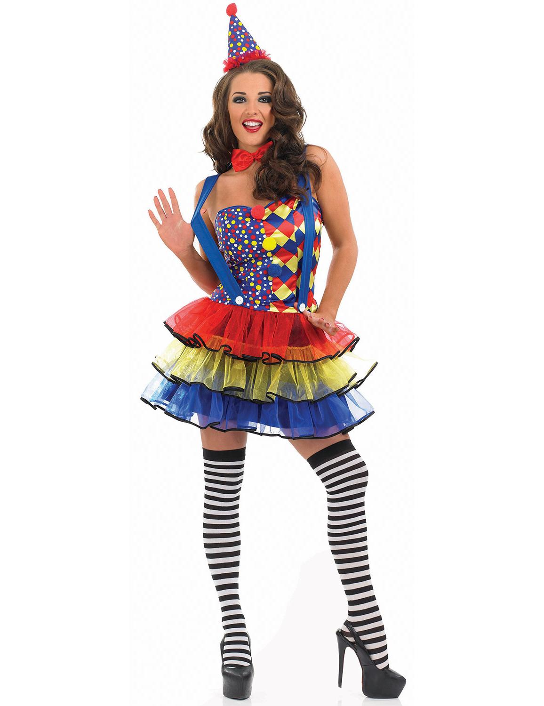 Carnavalskleding Dames Clown.Kleurrijke Clownsoutfit Voor Vrouwen
