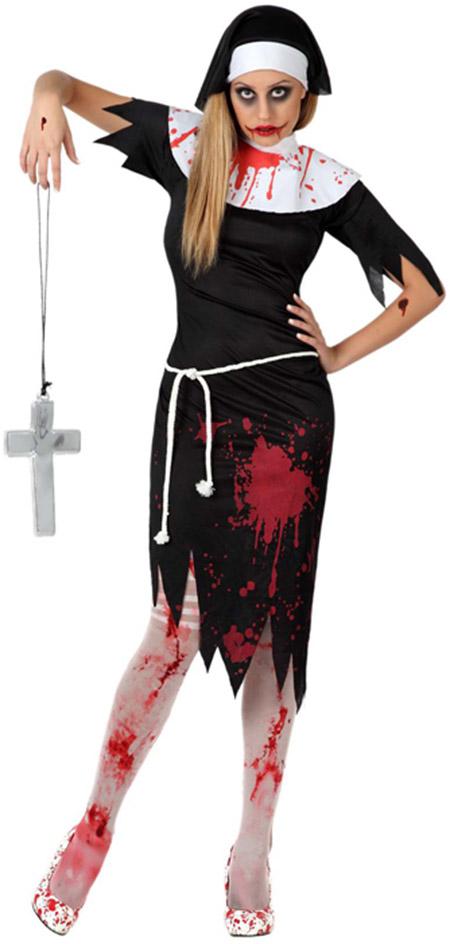 schrik al u vriendin op halloween met dit nonnen zombie pakkel. Black Bedroom Furniture Sets. Home Design Ideas