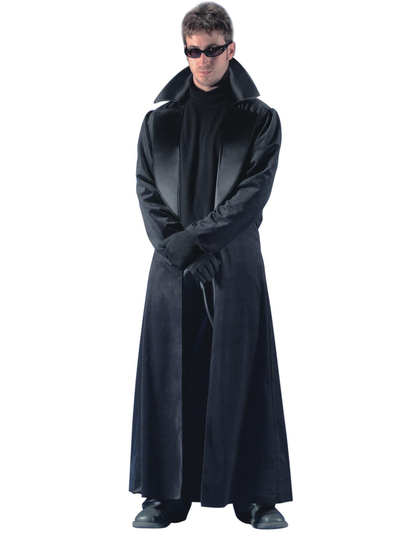 Lange Zwarte Winterjas Heren.Lange Zwarte Jas Voor Heren Volwassenen Kostuums En Goedkope