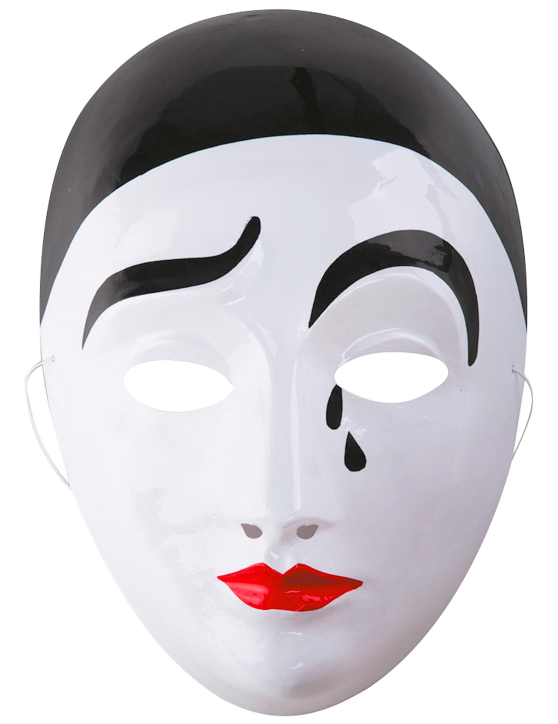 Pierrot masker voor volwassenen maskers en goedkope for Immagini di clown da colorare