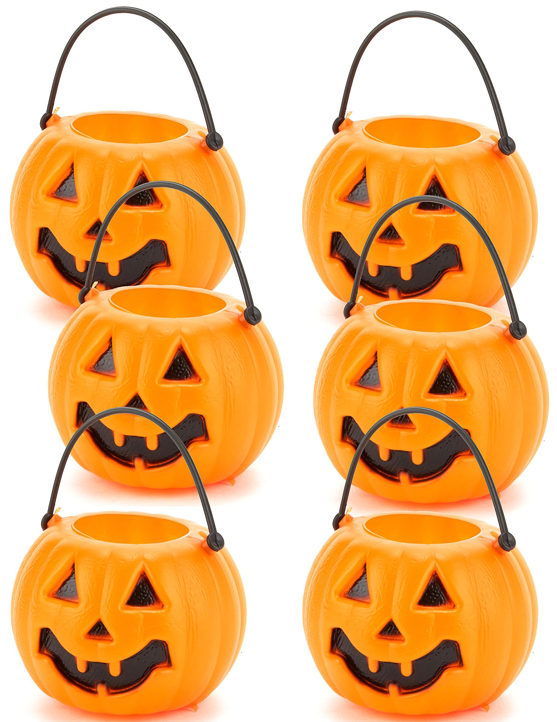 leuke halloween pompoen emmers voor de snoepjes. Black Bedroom Furniture Sets. Home Design Ideas