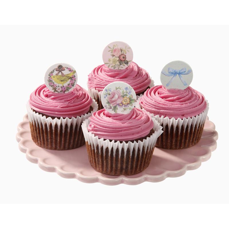 Taart en cupcake decoratie schijfjes for Decoratie cupcakes