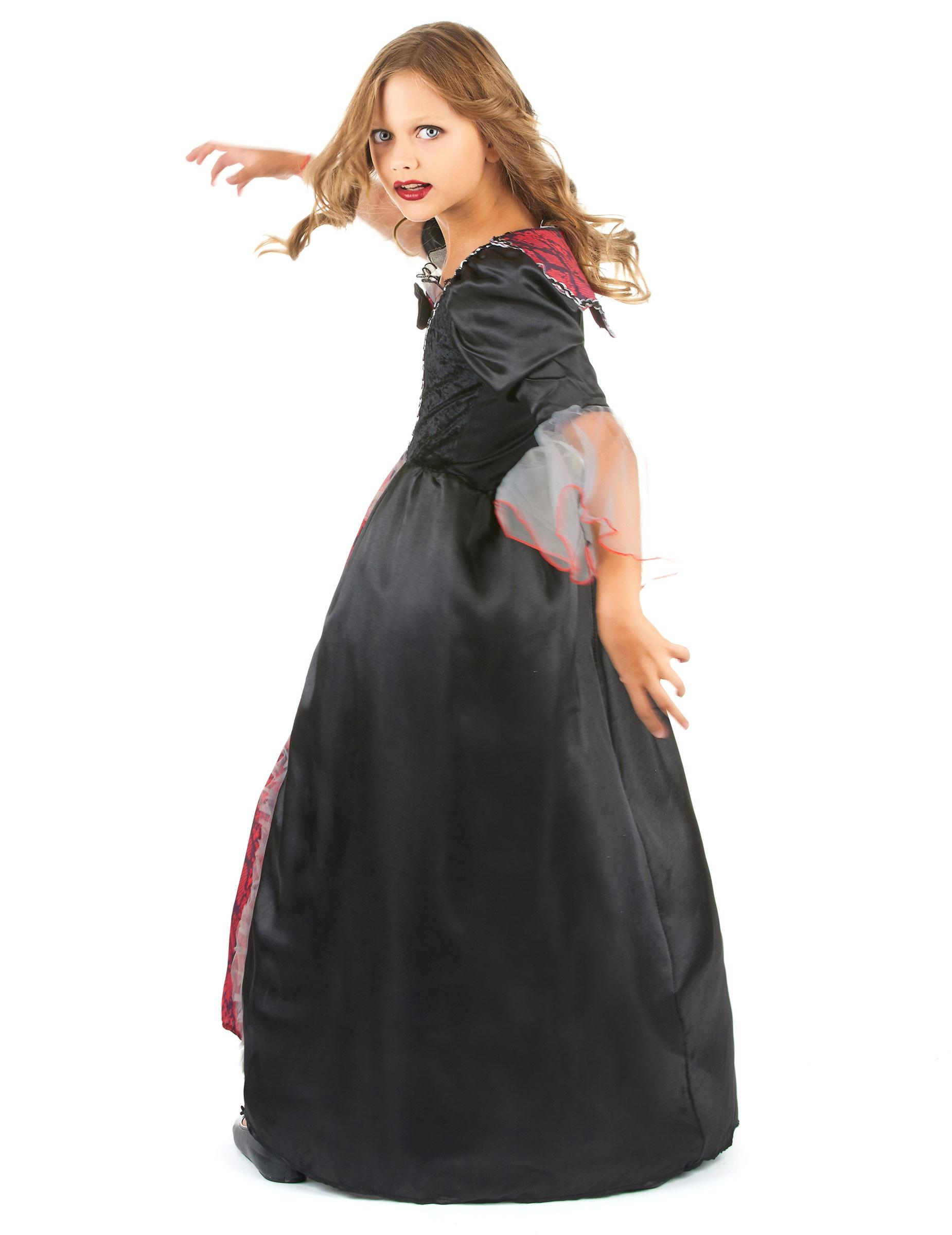 Rood en zwart vampierskostuum voor meisjes - Eetkamer rood en zwart ...