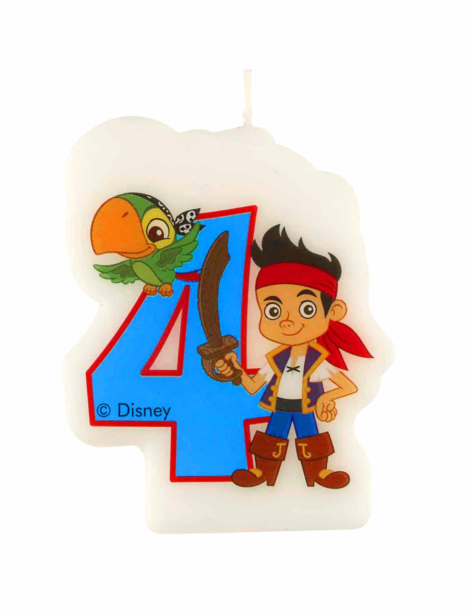 Jake De Piraat Verjaardagskaarsje 4 Jaar Decoratie En Goedkope