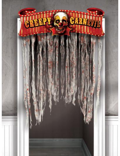 Creepy halloween decoratie voor aan de deur - Decoratie voor halloween is jezelf ...
