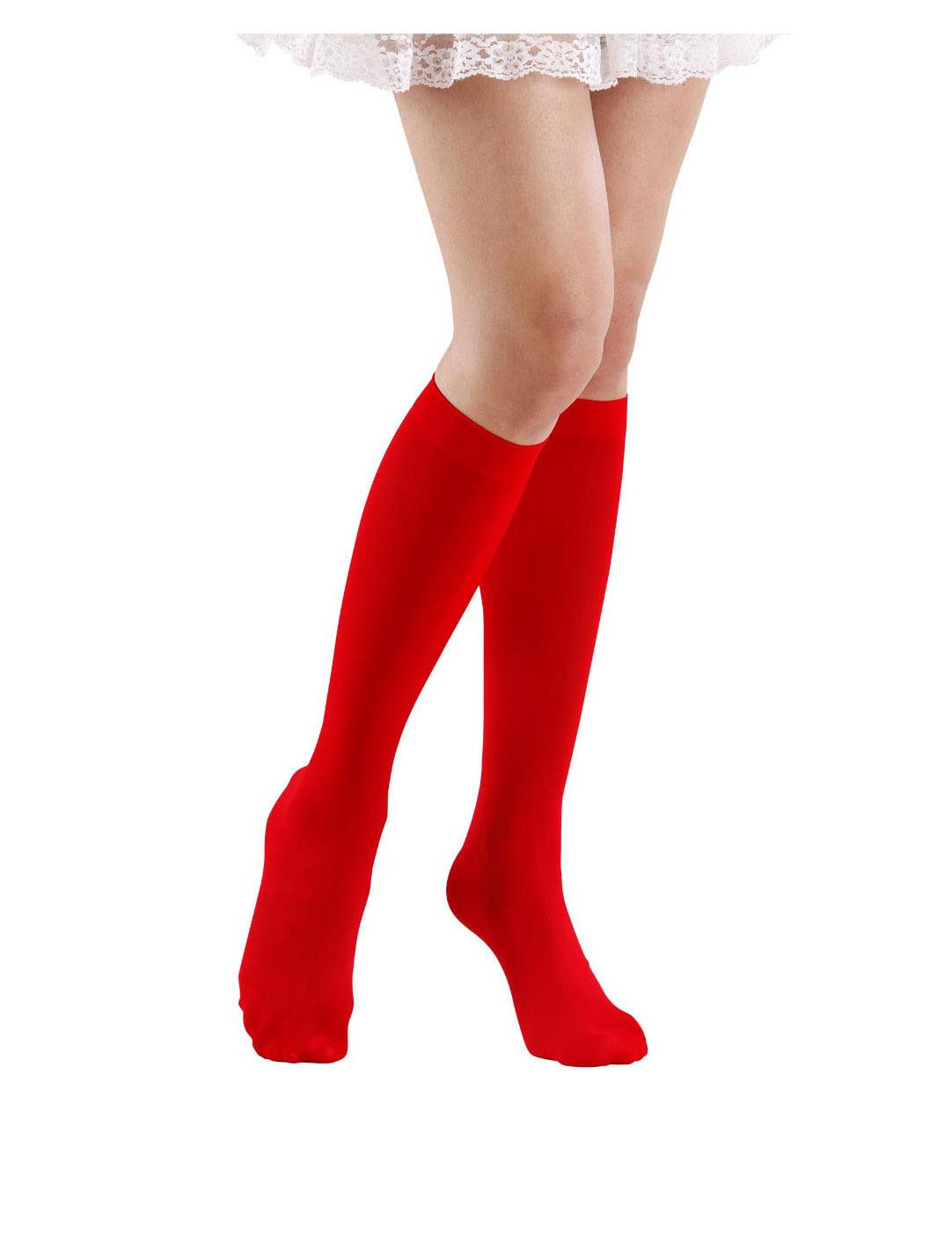 Rode lange sokken voor volwassenen