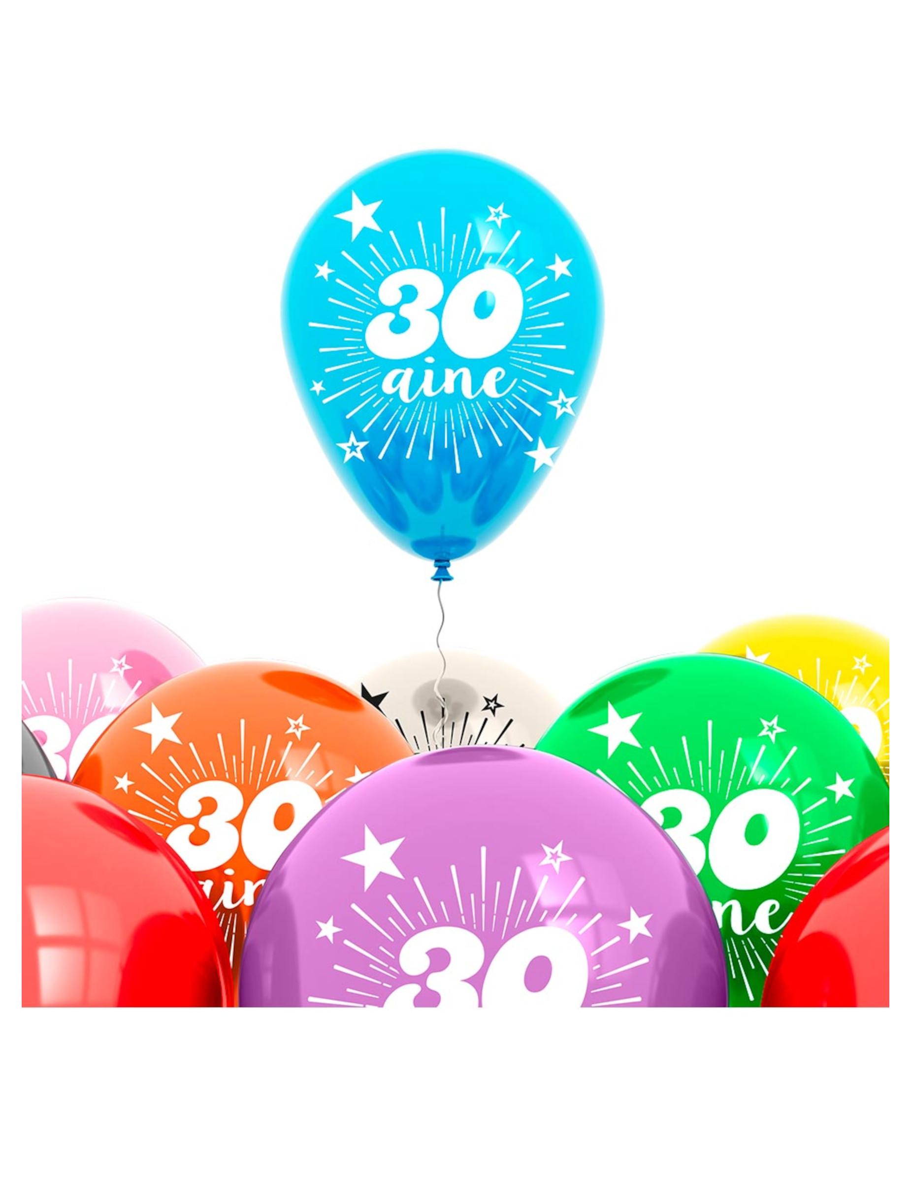 ballonnen 30 jaar Zak 8 ballonnen 30 jaar: Decoratie,en goedkope carnavalskleding  ballonnen 30 jaar