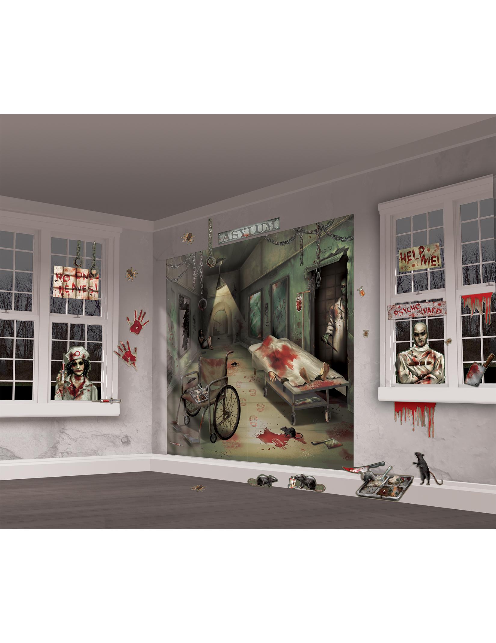Muurdecoratie set voor halloween decoratie en goedkope carnavalskleding vegaoo - Decoratie voor halloween is jezelf ...