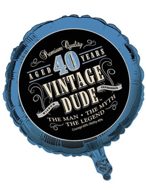 Bekend Folie ballon vintage dude 40 jaar: Decoratie,en goedkope @WK41