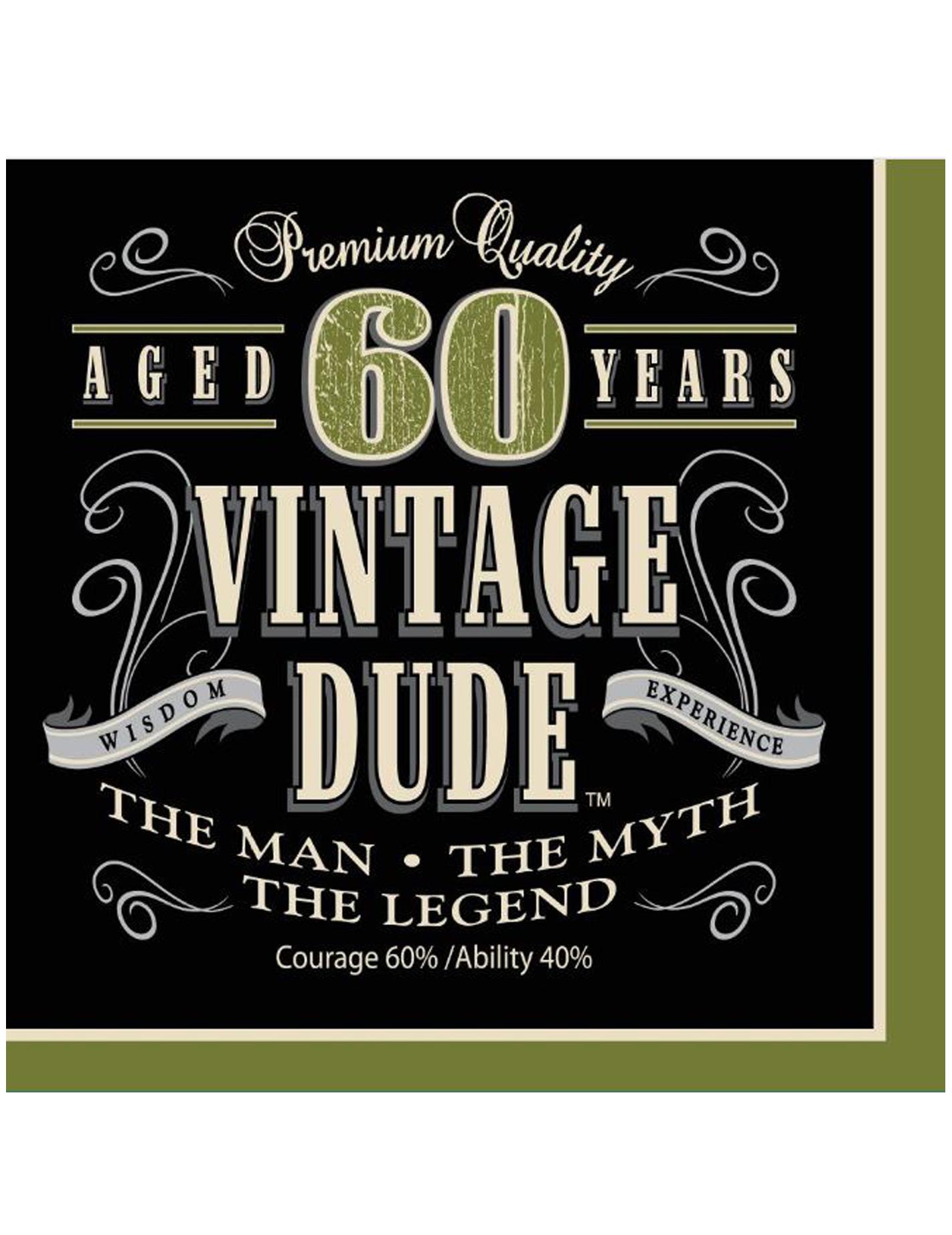 Set van vintage 60 jaar servetten decoratie en goedkope for Decoratie 60 jaar