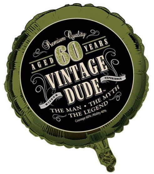 Bekend Verjaardag ballon vintage 60 jaar: Decoratie,en goedkope &OX58