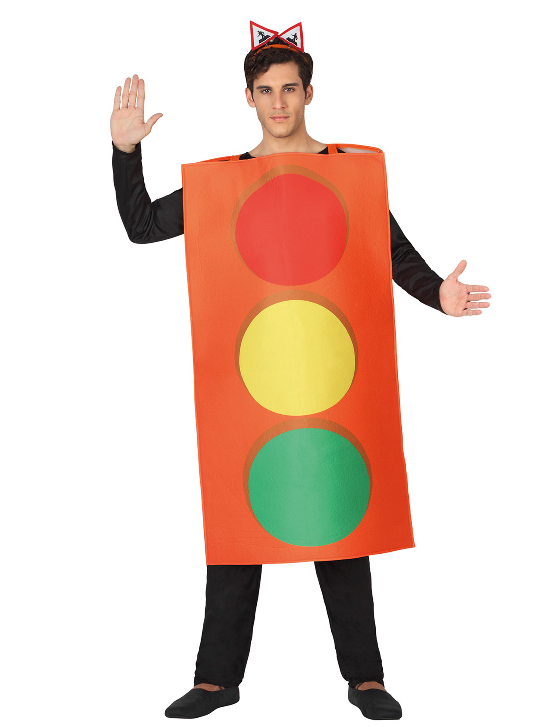 Grappig stoplicht verkleedkleding voor volwassenen - Costume da bagno tricolore ...