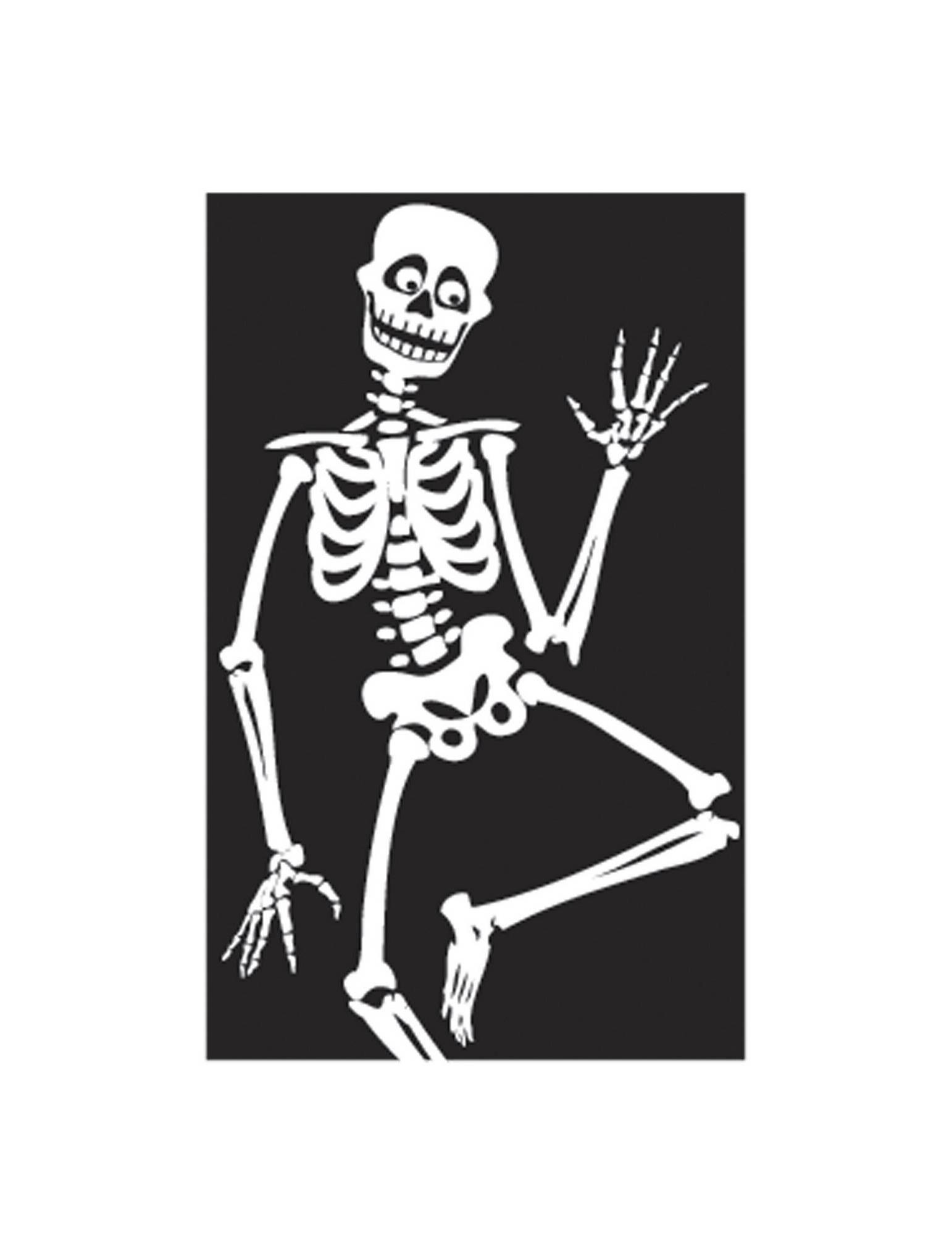 Skelet Voor Halloween.Spook Of Skelet Raamversiering Halloween