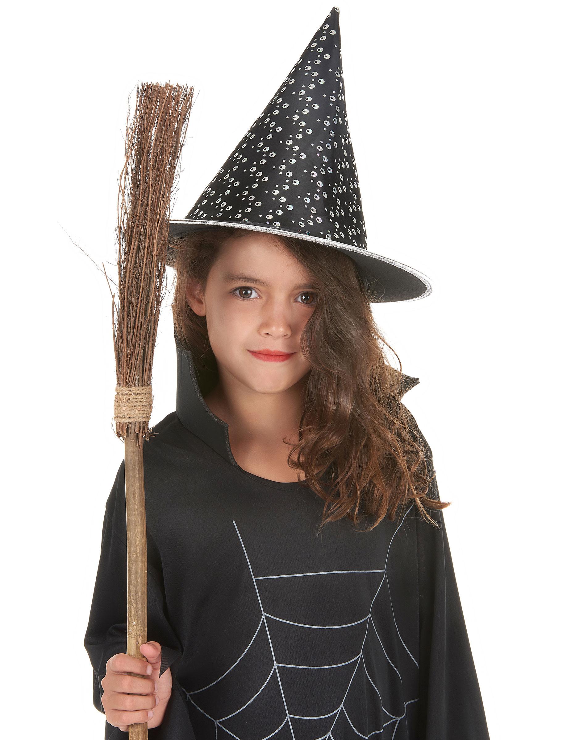 Zwart wit heksen hoed voor kinderen en volwassenen halloween ...