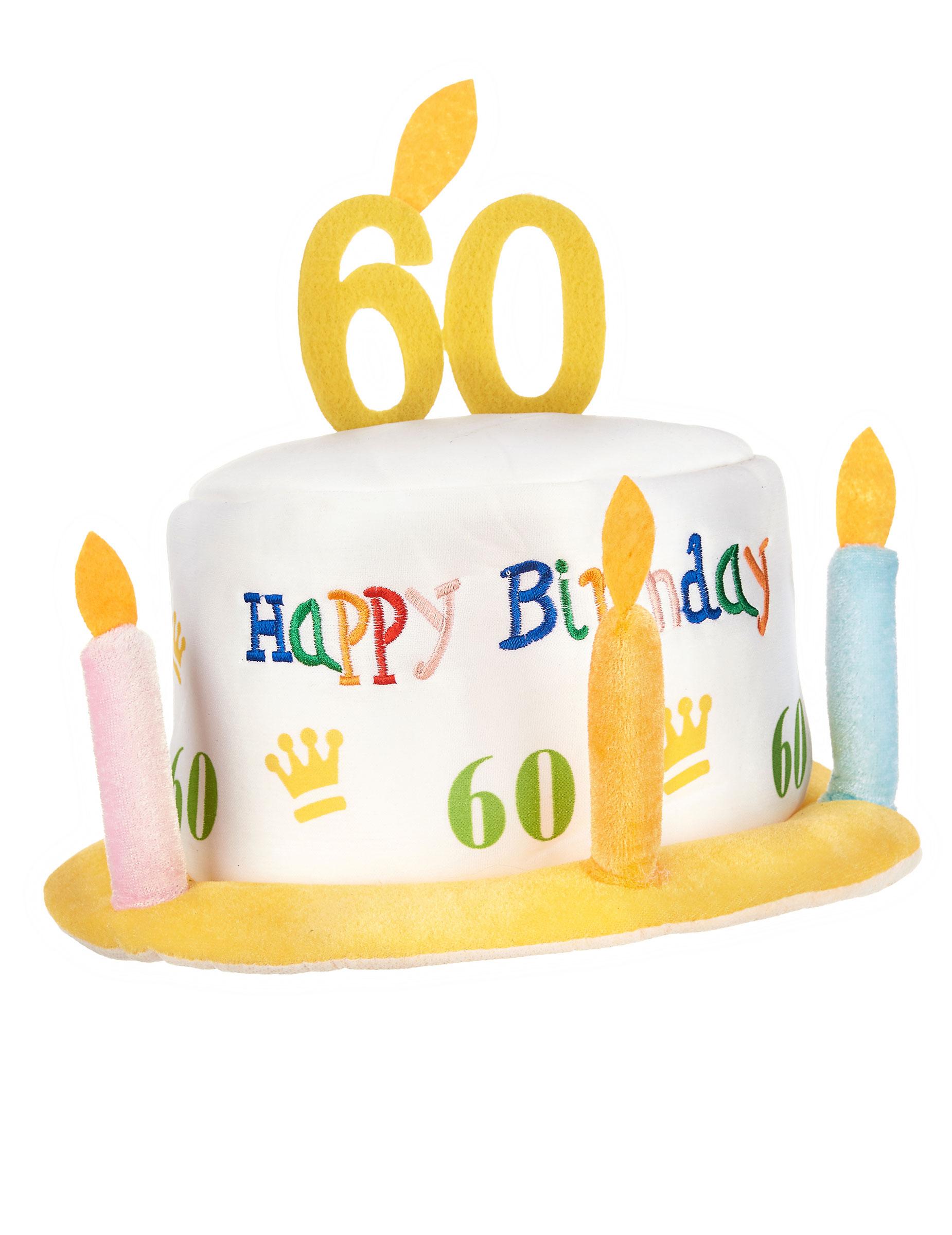 Happy birthday 60 jaar hoed hoeden en goedkope for Decoratie 60 jaar