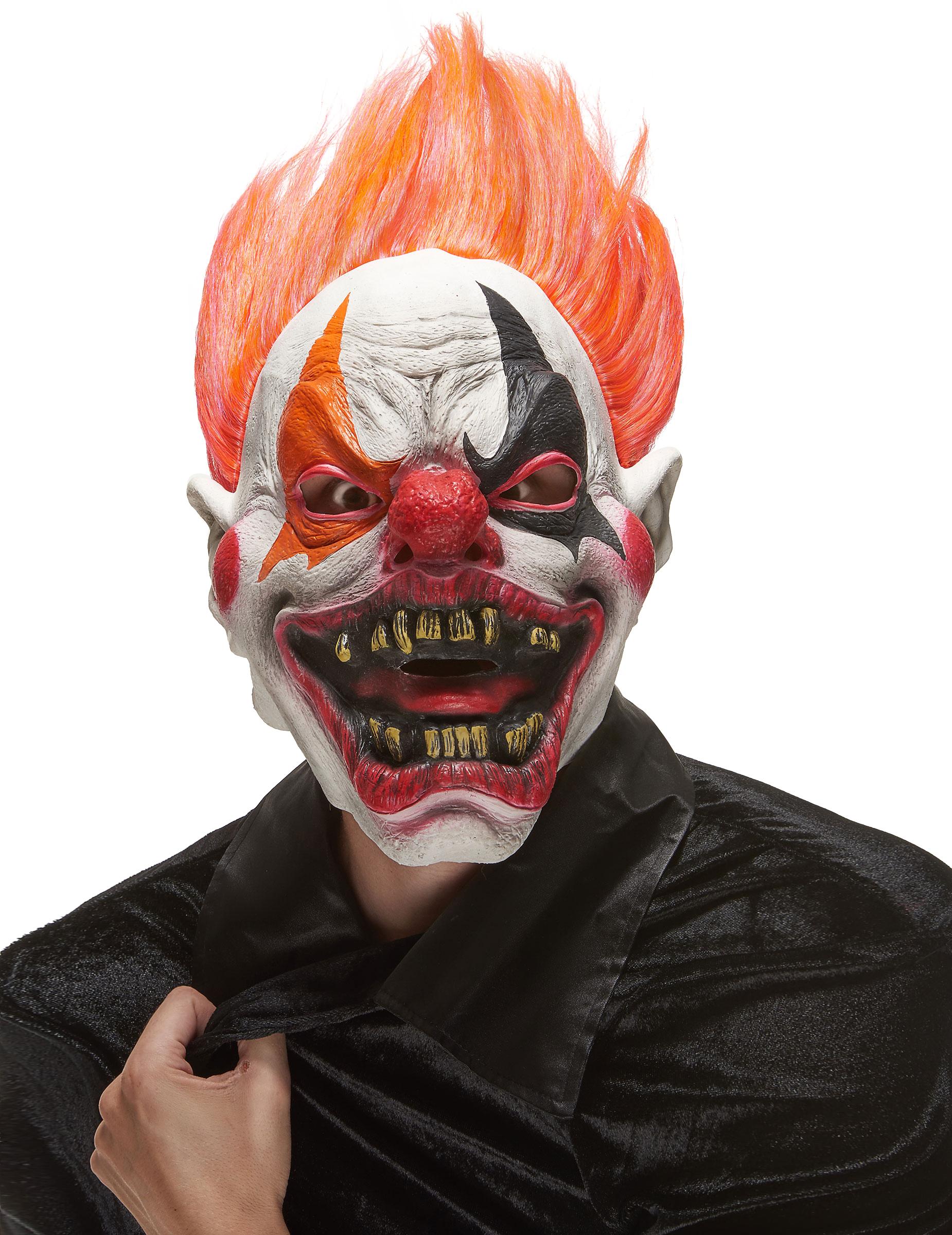 Duivelse clown masker voor volwassenen halloween maskers en goedkope carnav - Peinture qui masque les imperfections ...