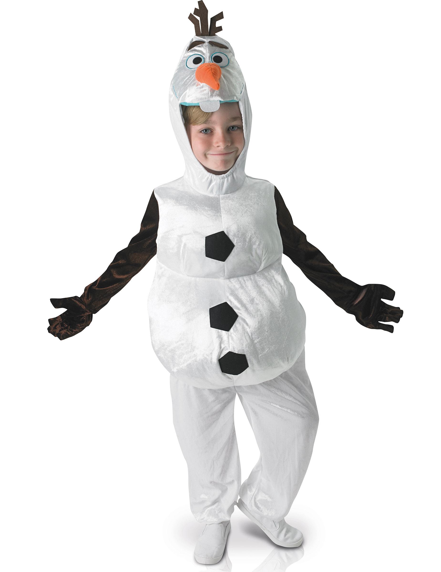 Carnaval Kostuum Kind.Luxe Gevoerde Olaf Kostuum Voor Kinderen