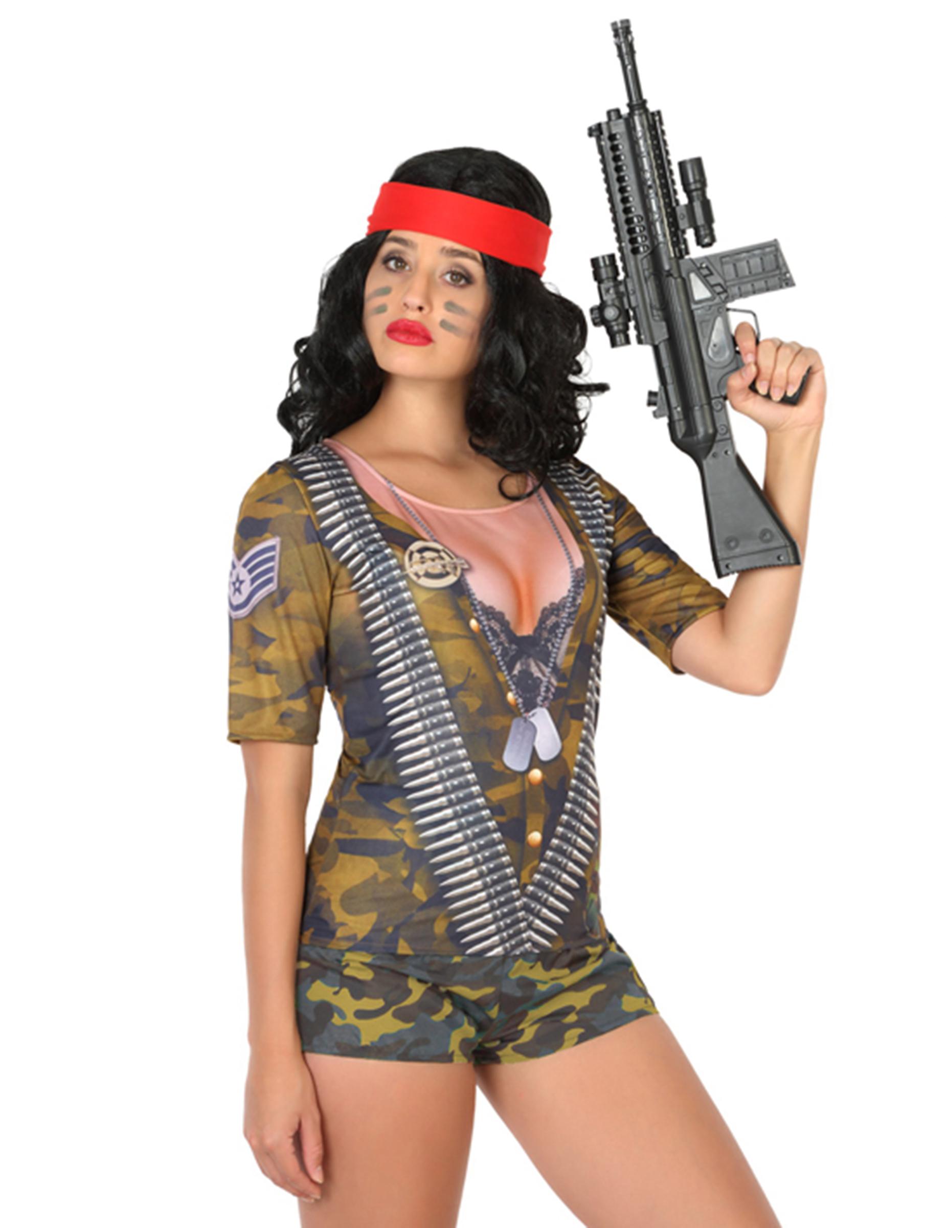 Carnavalskleding Leger Dames.Prachtig Soldaten Leger Fopshirt Voor Vrouwen Vegaoo Nl