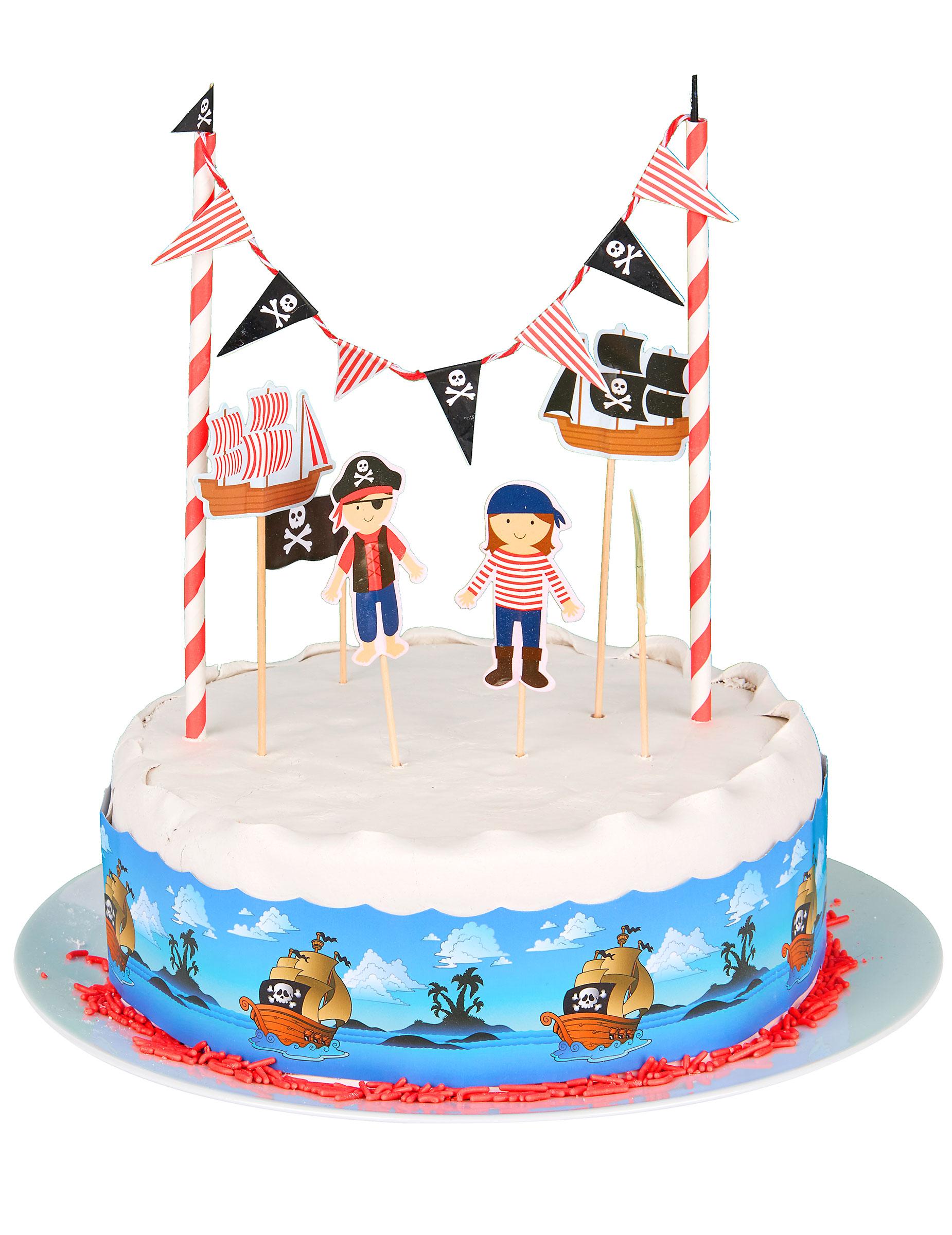 Piraten taartdecoratie set for Taart en decoratie
