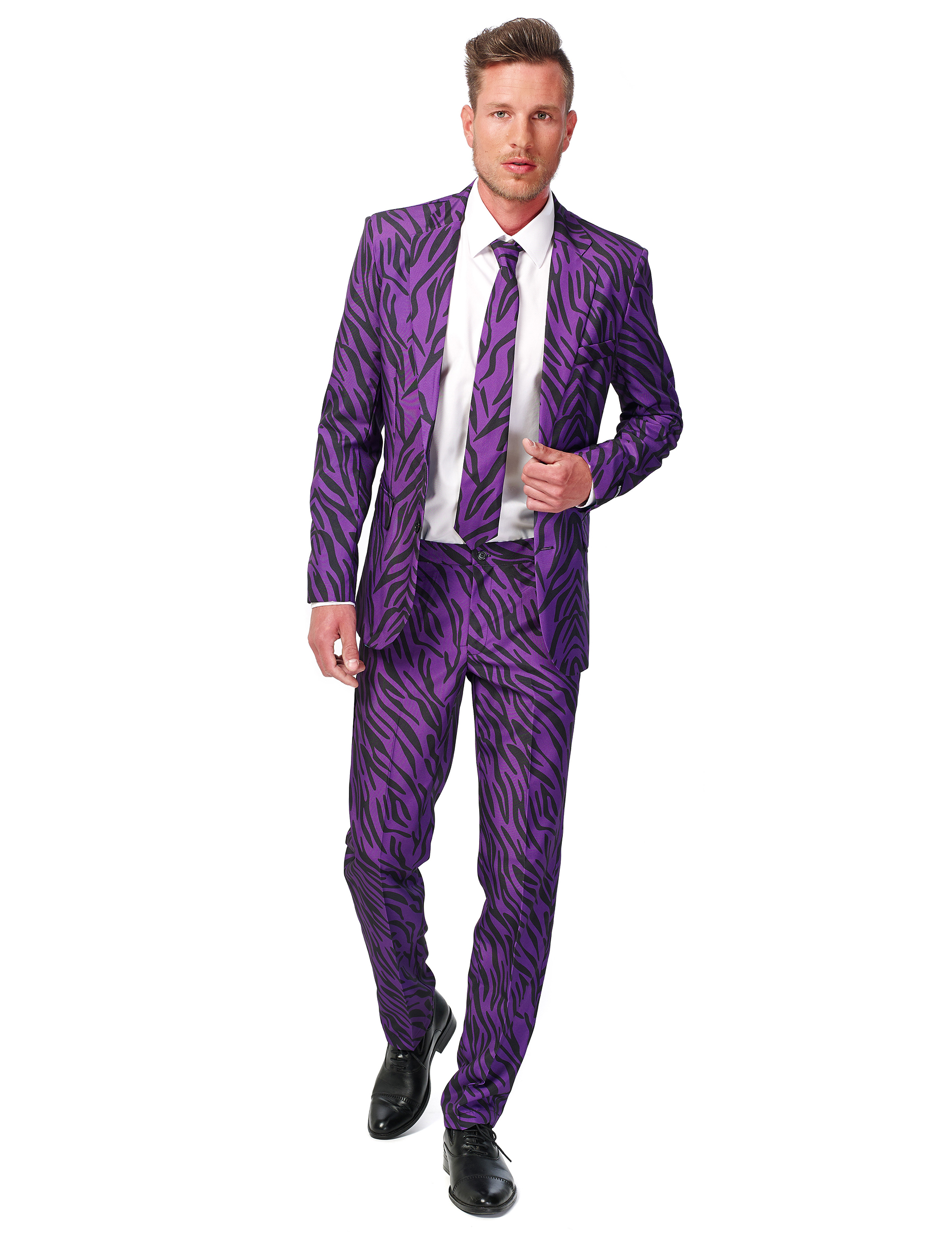 Kostuum Heren.Paars Tijger Kostuum Voor Heren Suitmeister