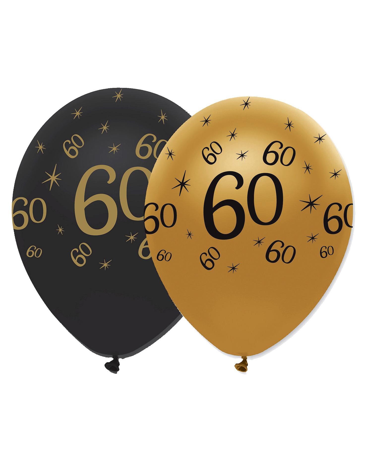 Set zwarte en goudkleurig ballonnen 60 jaar decoratie en for Decoratie 60 jaar