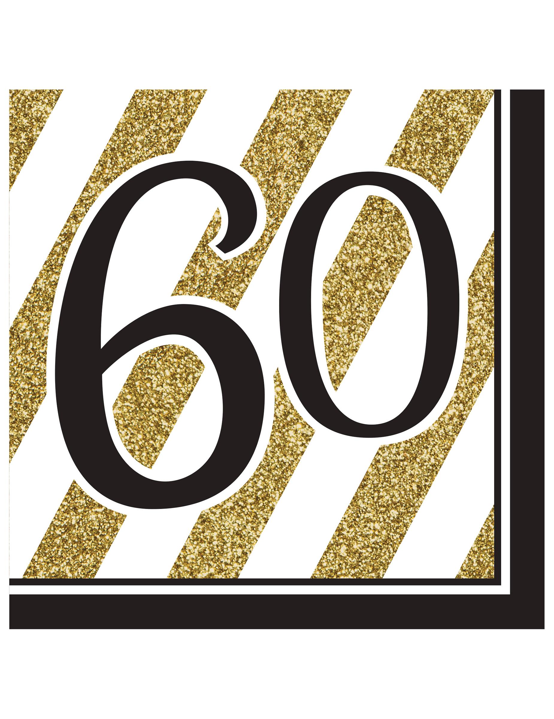 16 servetten 60 jaar decoratie en goedkope for Decoratie 60 jaar