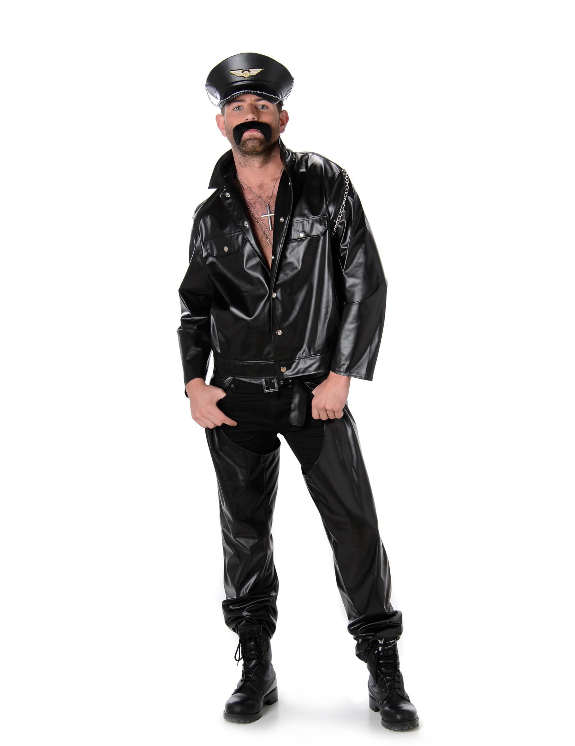 Schoudertasje Voor Heren : Origineel motorrijder verkleedkostuum voor mannen vegaoo