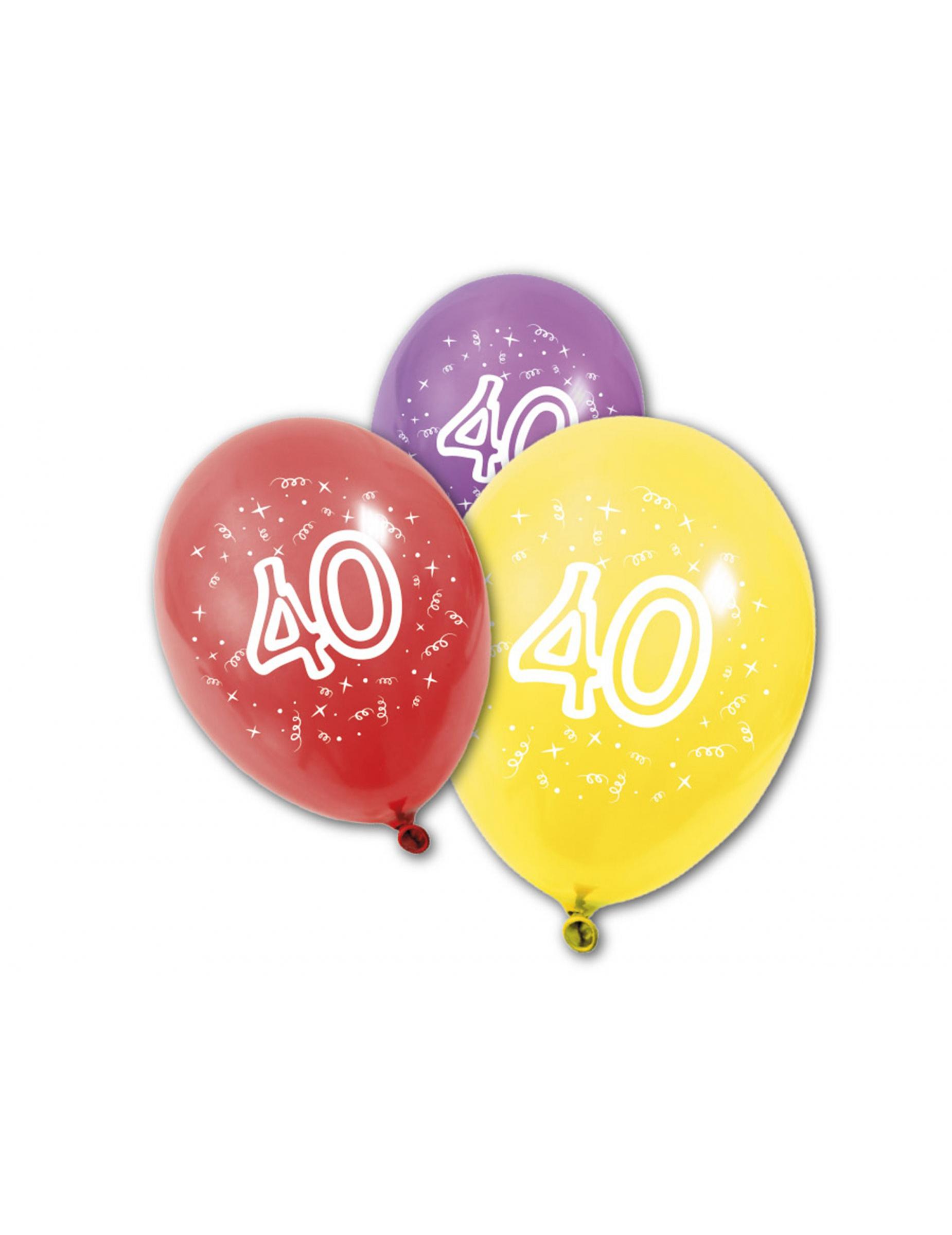 8 verjaardagsballonnen 40 jaar. Black Bedroom Furniture Sets. Home Design Ideas