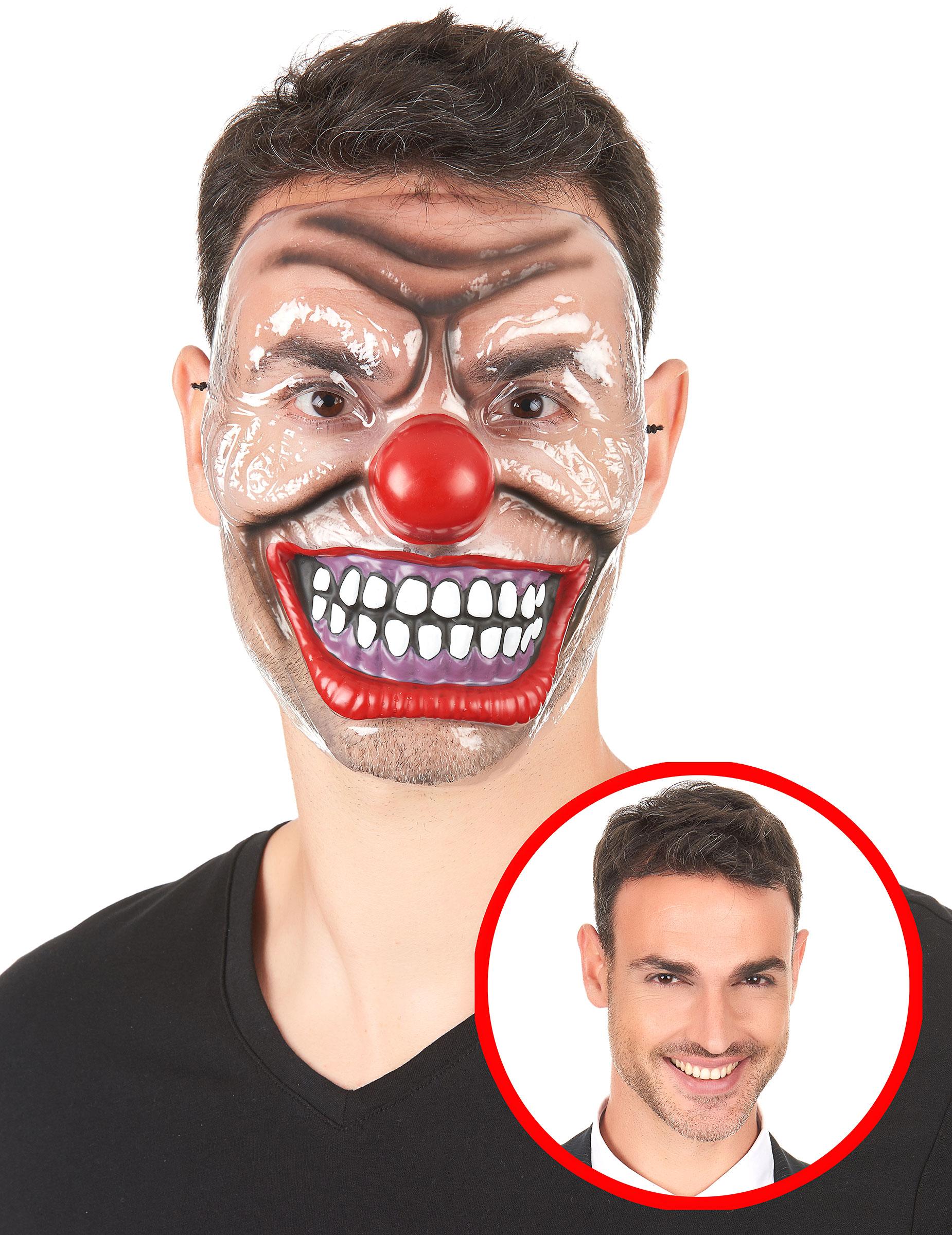 Goedkope creepy horror clown masker voor volwassenen for Clown schminken bilder