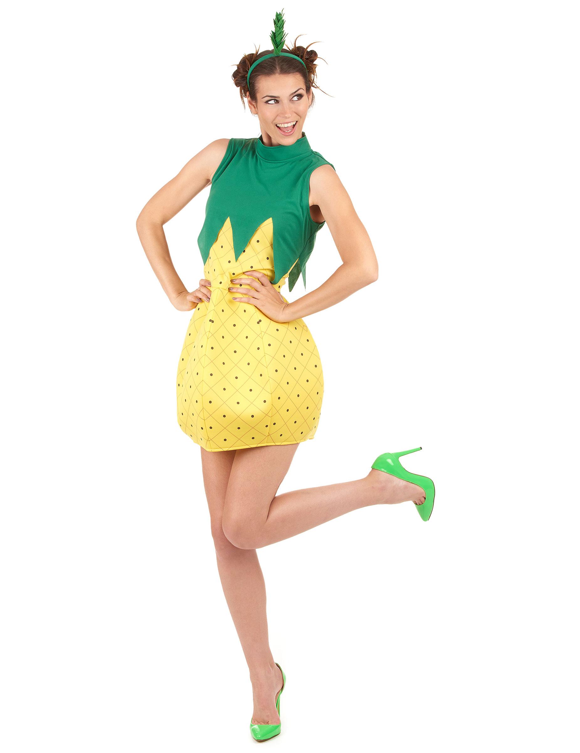 Grappige Carnavalskleding Dames.Grappig Ananas Verkleedkleding Voor Vrouwen Vegaoo Nl