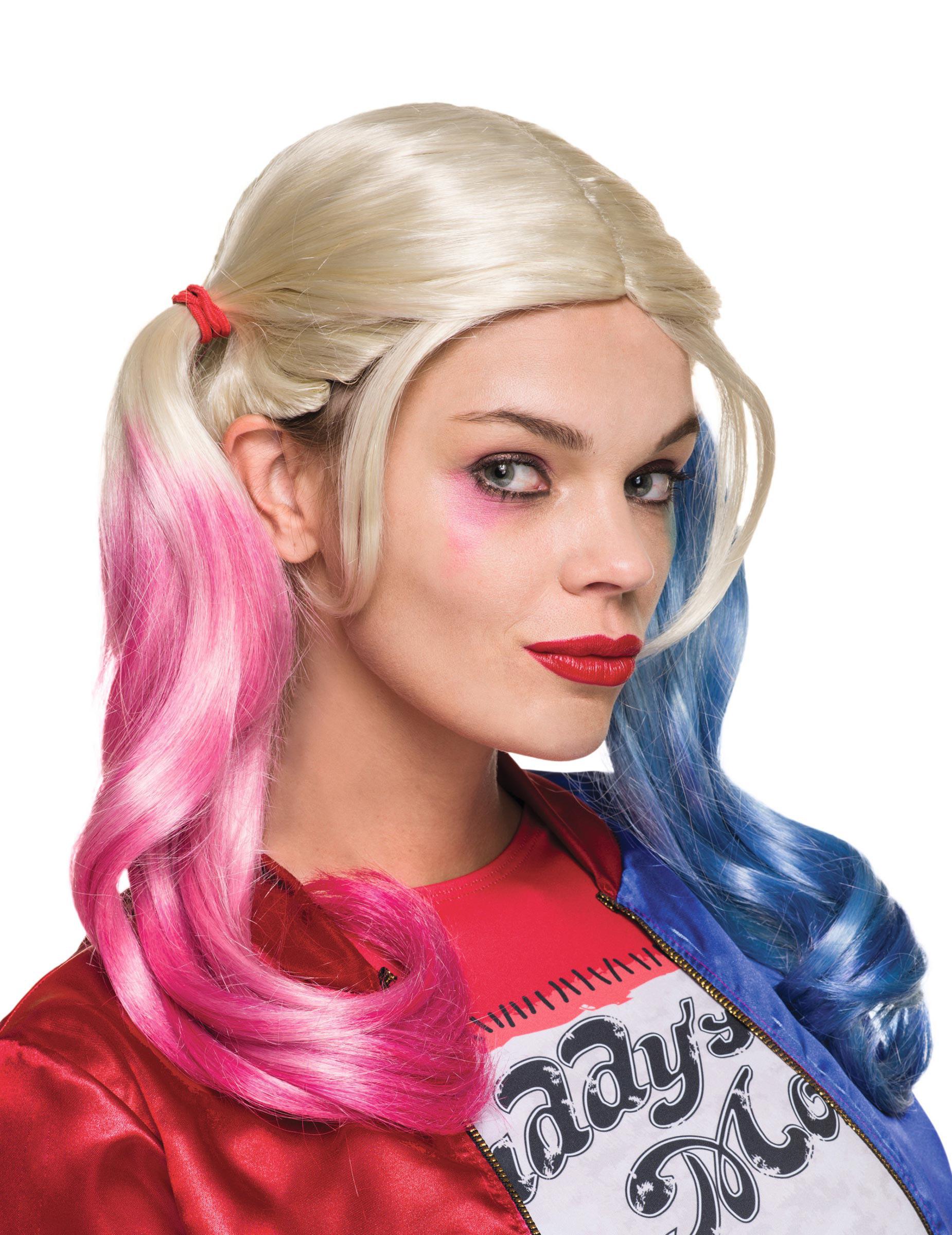 Extreem Prachtige Harley Quinn Suicide Squad pruik voor volwassenen  OI31