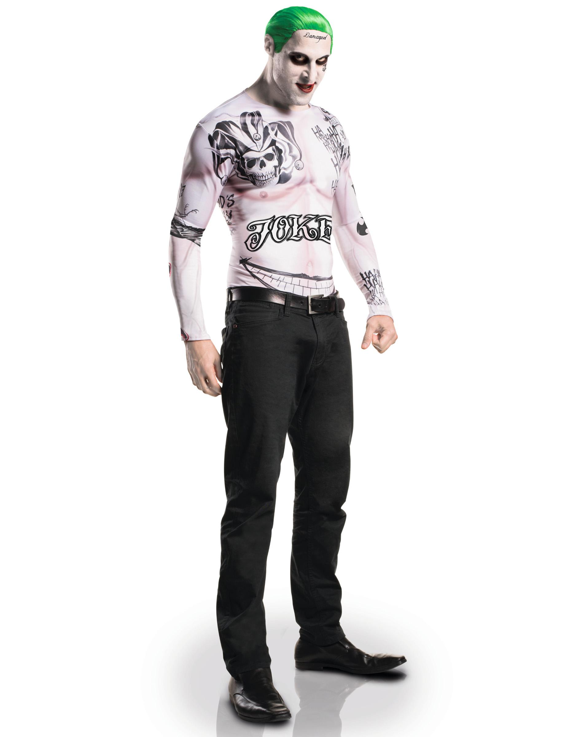 Suicide Squad™ Joker kostuum en schmink voor volwassenen