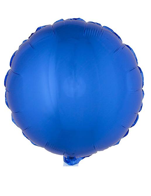 Ronde blauwe folie ballon 45 cm decoratie en goedkope carnavalskleding vegaoo - Blauwe turquoise decoratie ...