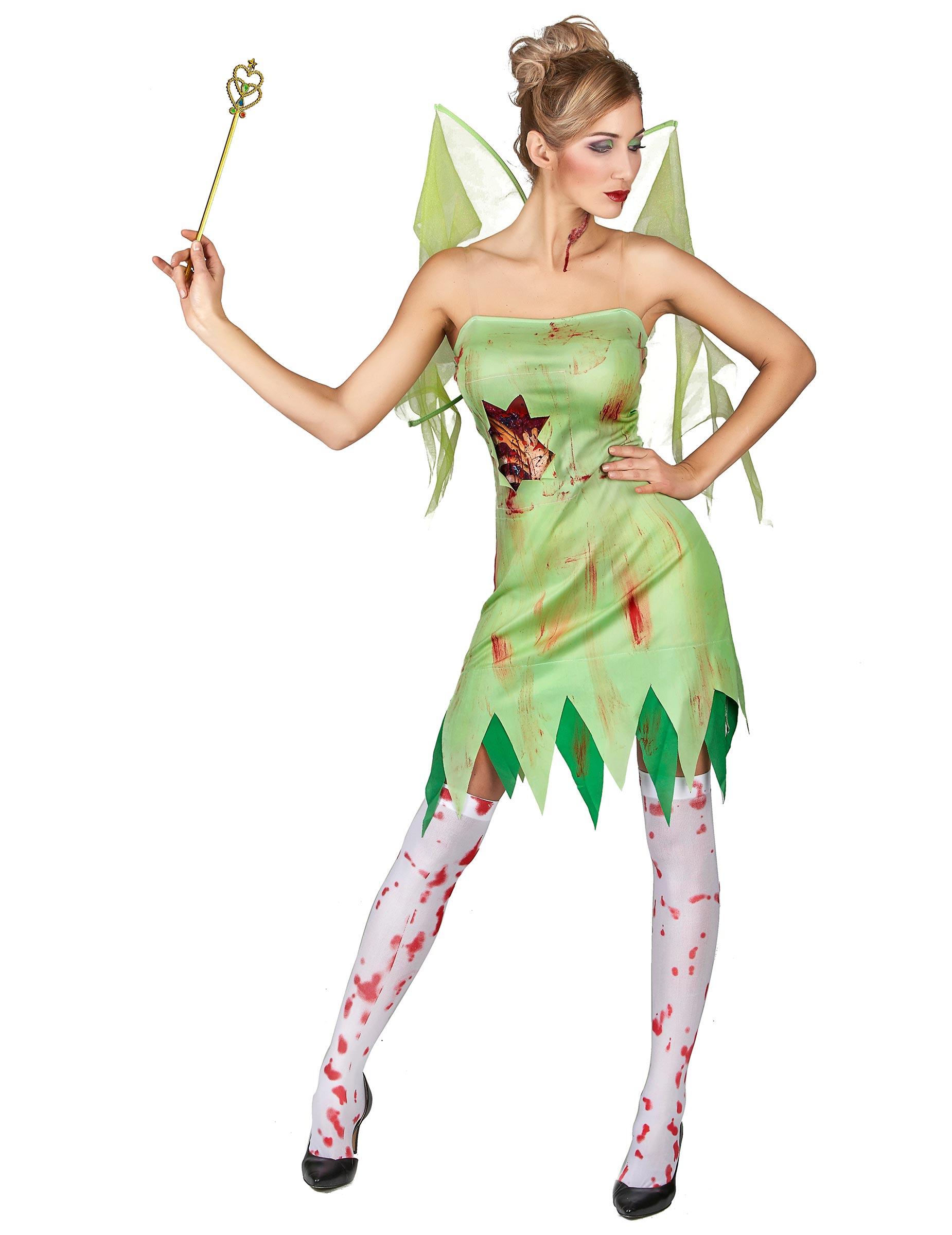 Fee Kostuum Dames.Bloederige Groene Fee Kostuum Voor Vrouwen