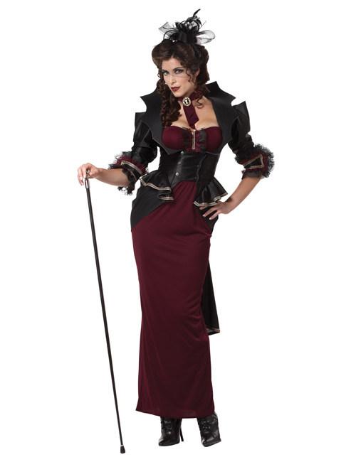 Gothic vampier outfit voor vrouwen: Volwassenen kostuums,en