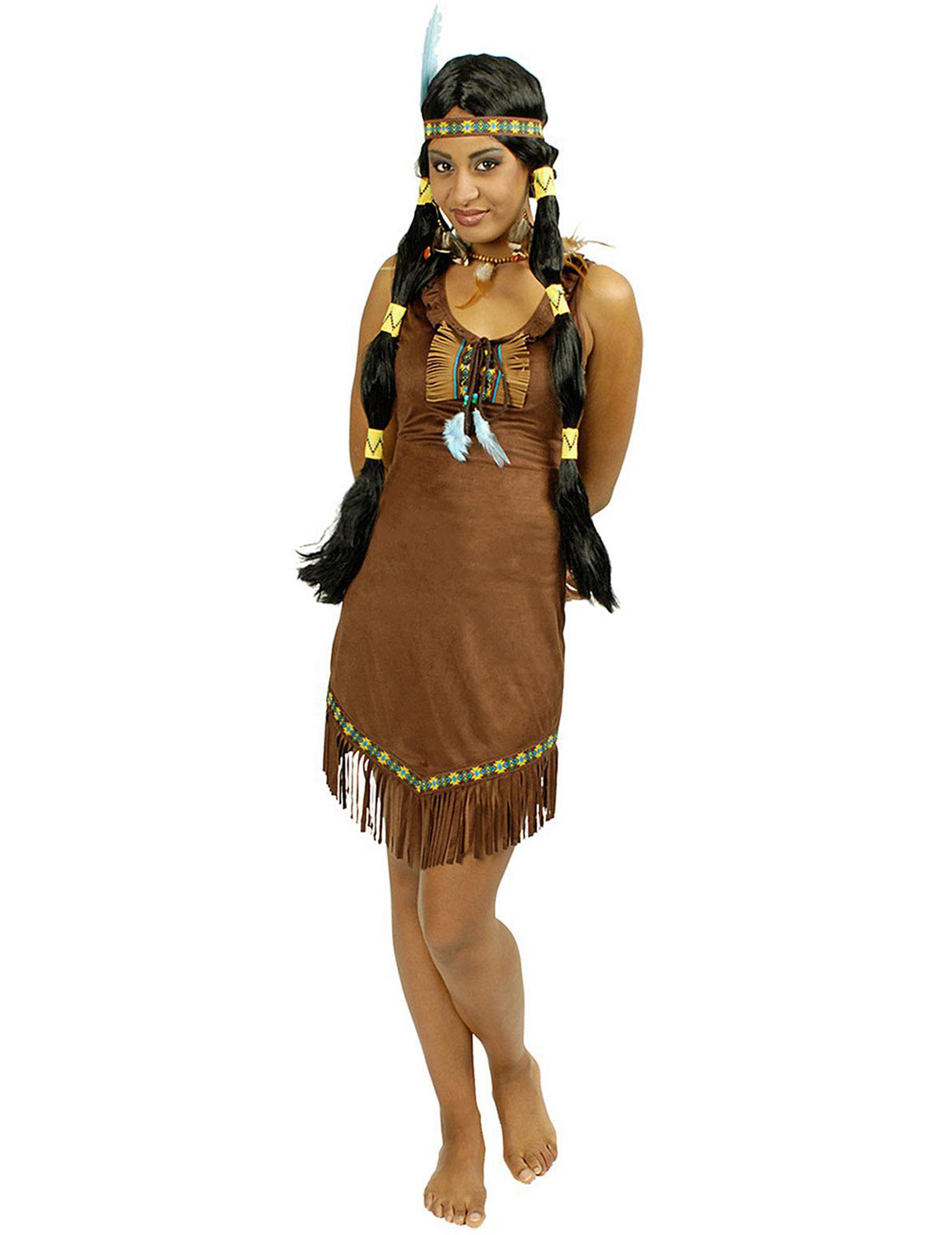 Carnavalskleding Dames Indiaan.Prairie Indiaan Kostuum Voor Vrouwen Volwassenen Kostuums En