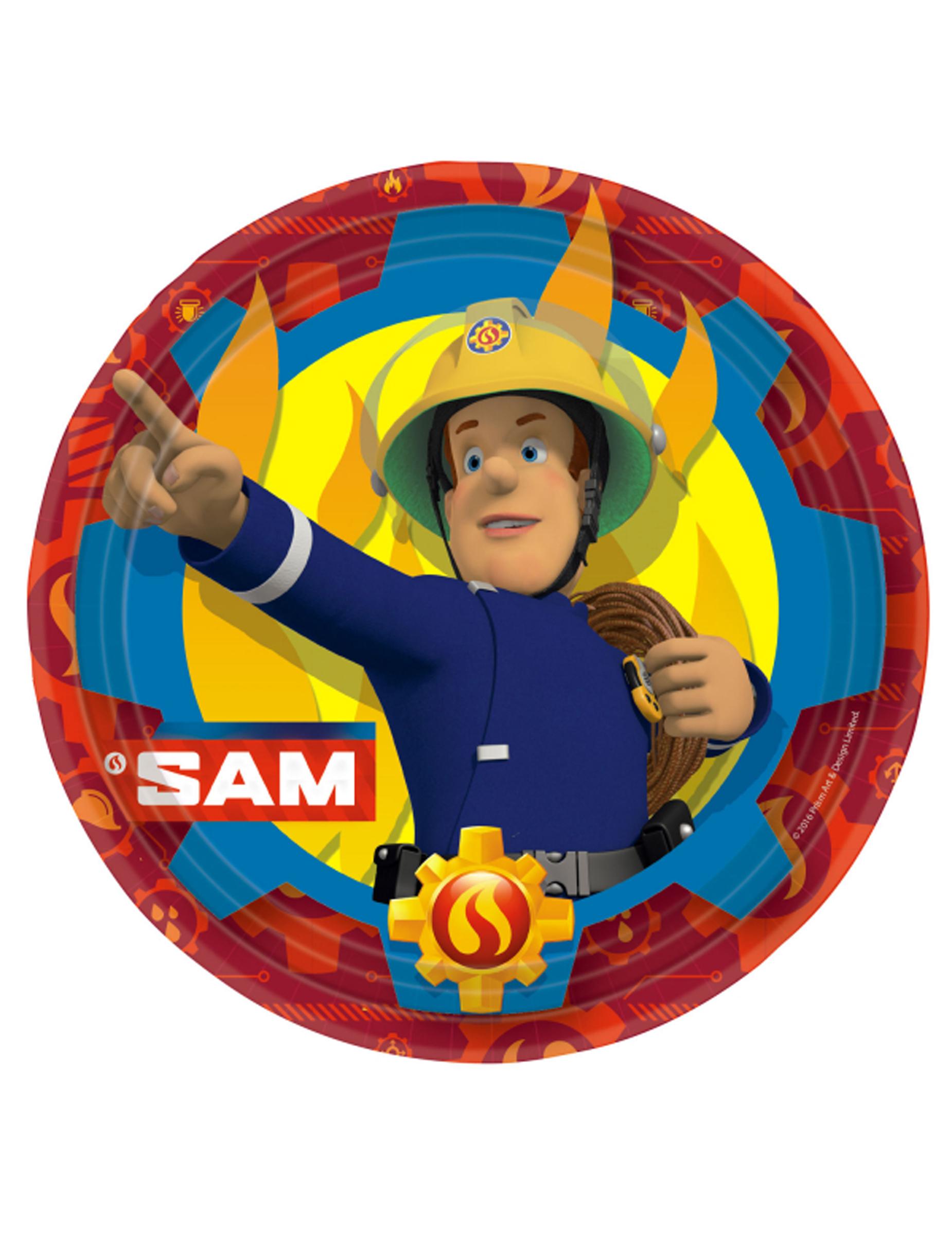 Vaak 8 Brandweerman Sam™ borden 23 cm: Decoratie,en goedkope @HZ35